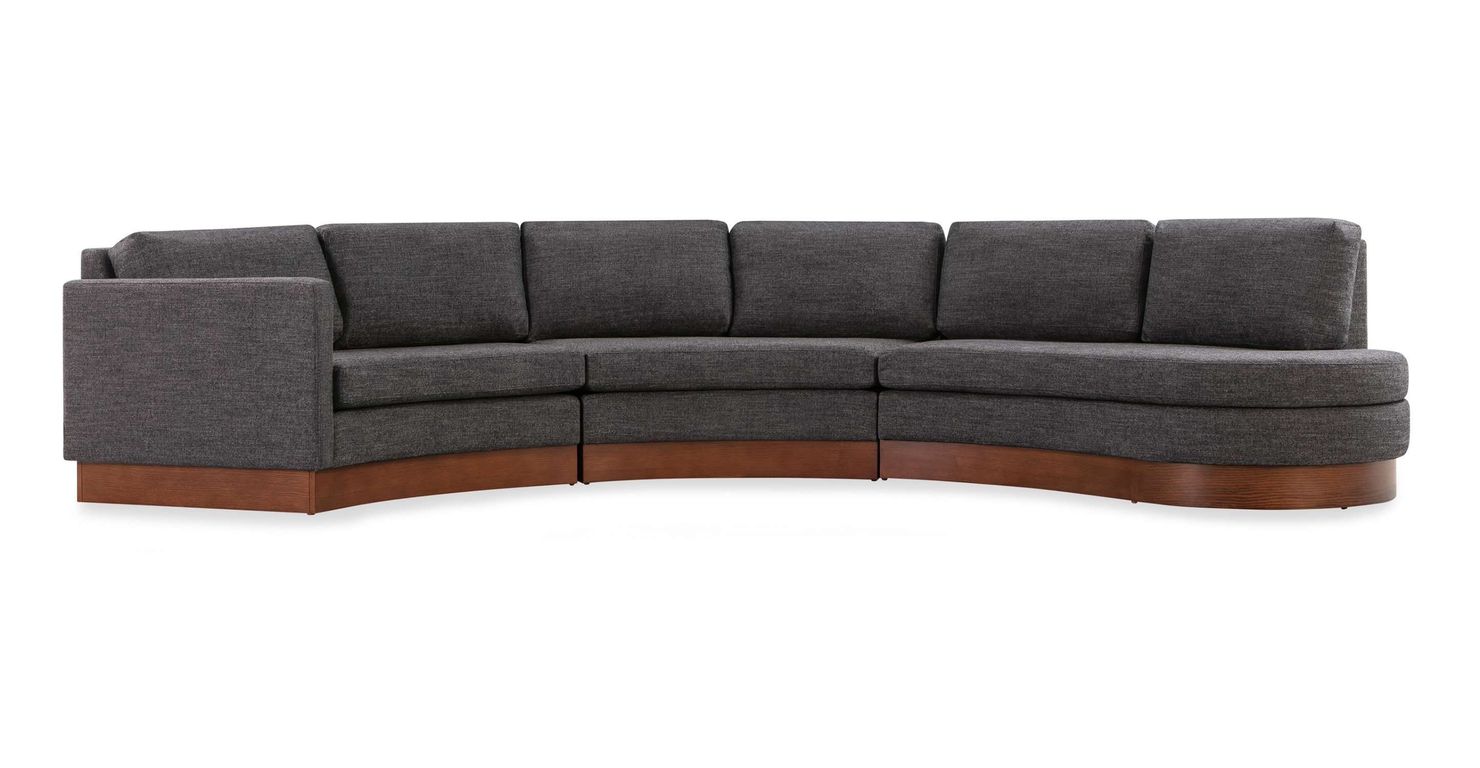 "Taylor 123"" Modular Fabric Sectional, Strauss Woven"