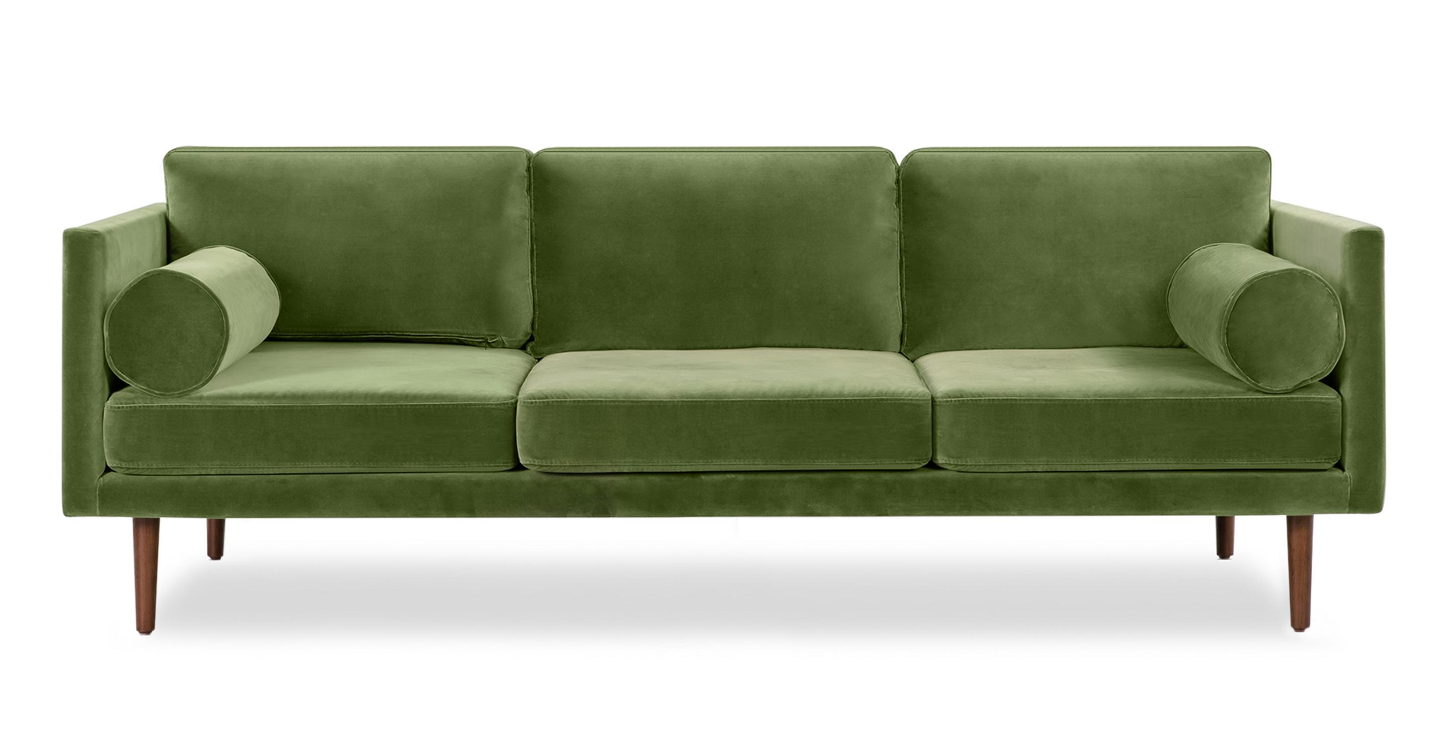 "Spectre 81"" Fabric Sofa, Kaffir Velvet"