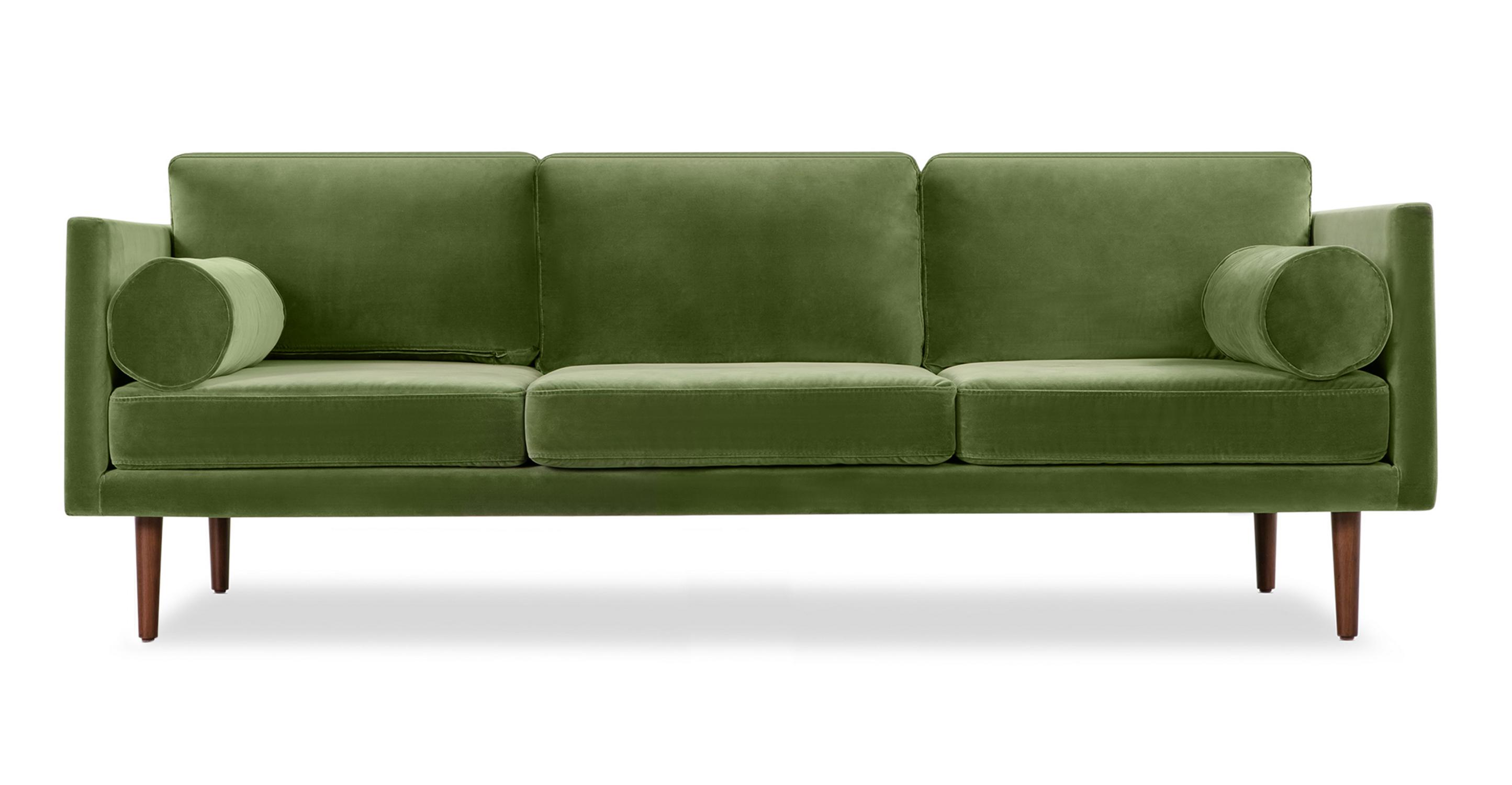 """Spectre 81"""" Fabric Sofa, Grass Velvet"""
