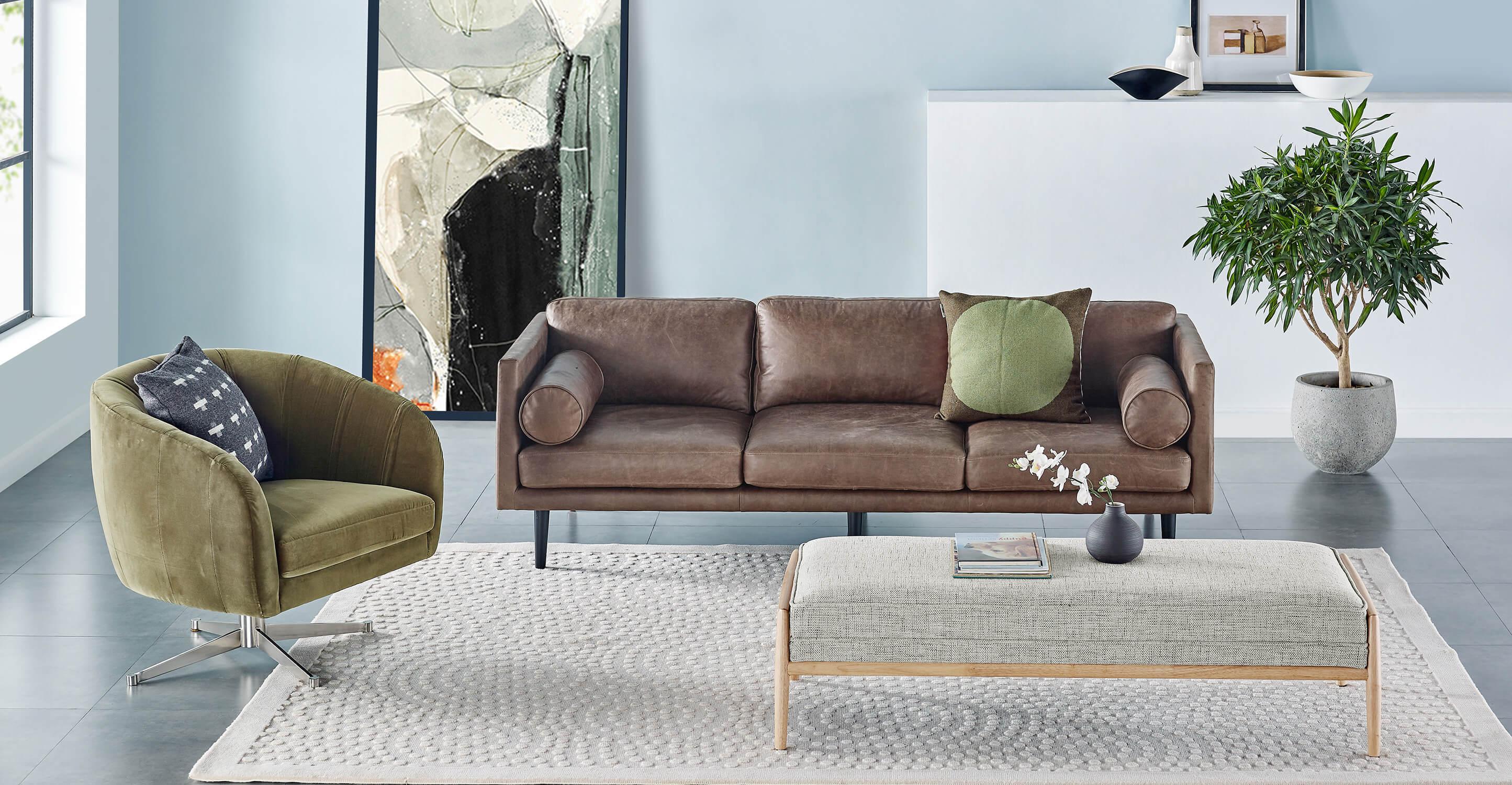 """Spectre 81"""" Fabric Sofa, Tranquil Velvet"""