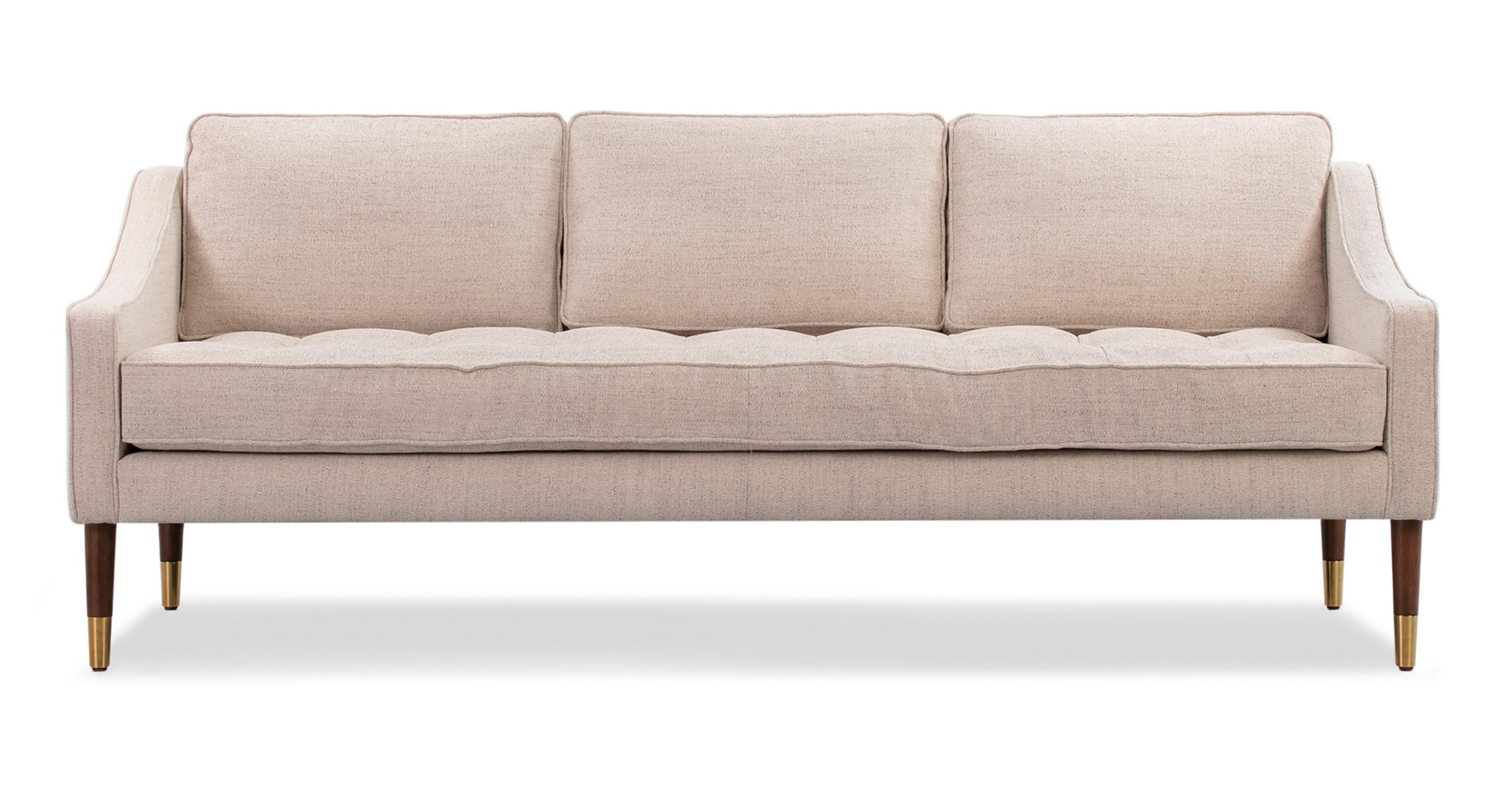 """Brando 74"""" Fabric Sofa, Oyster Woven"""