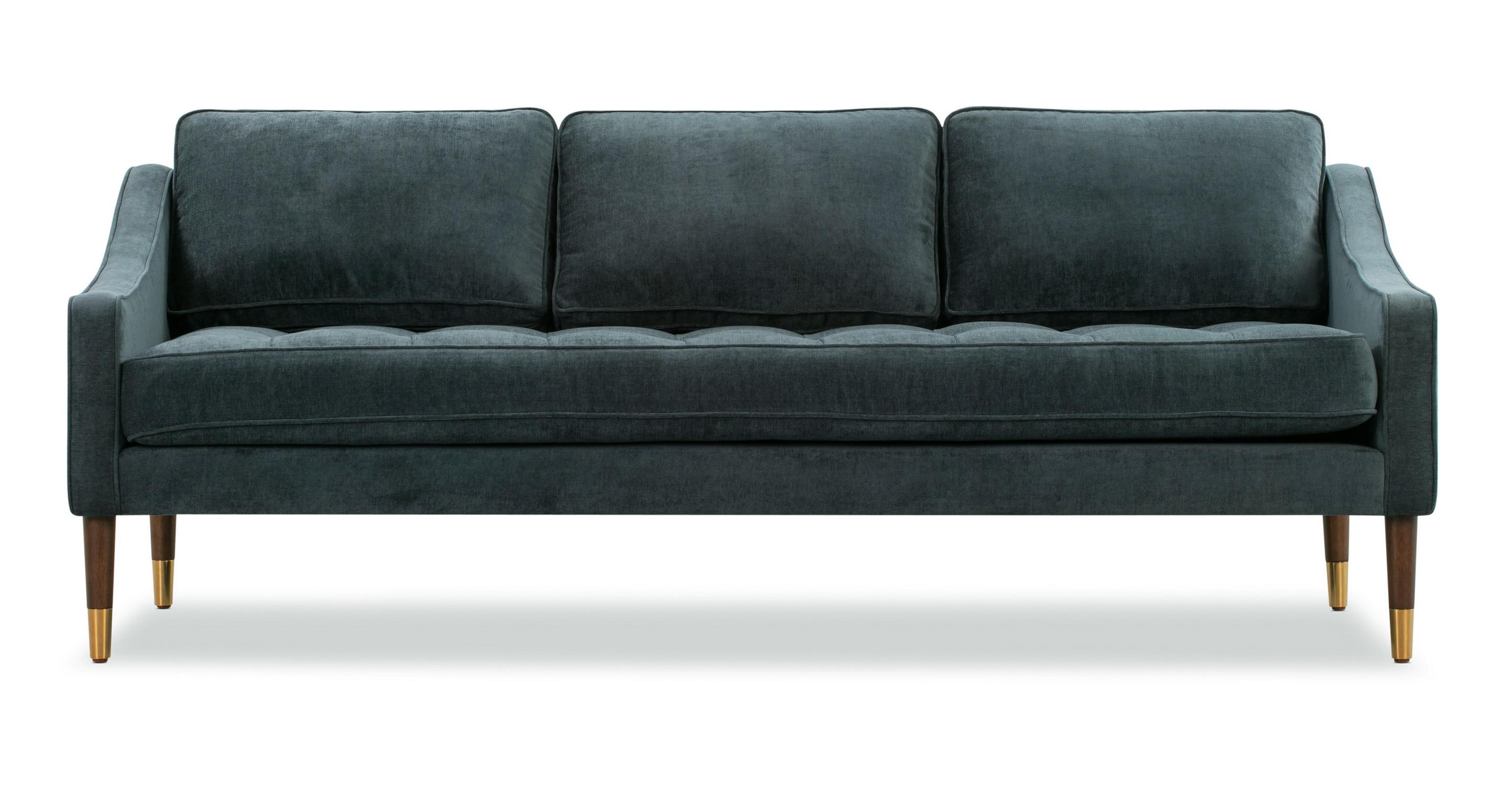 "Brando 74"" Fabric Sofa, Juhl Velvet"