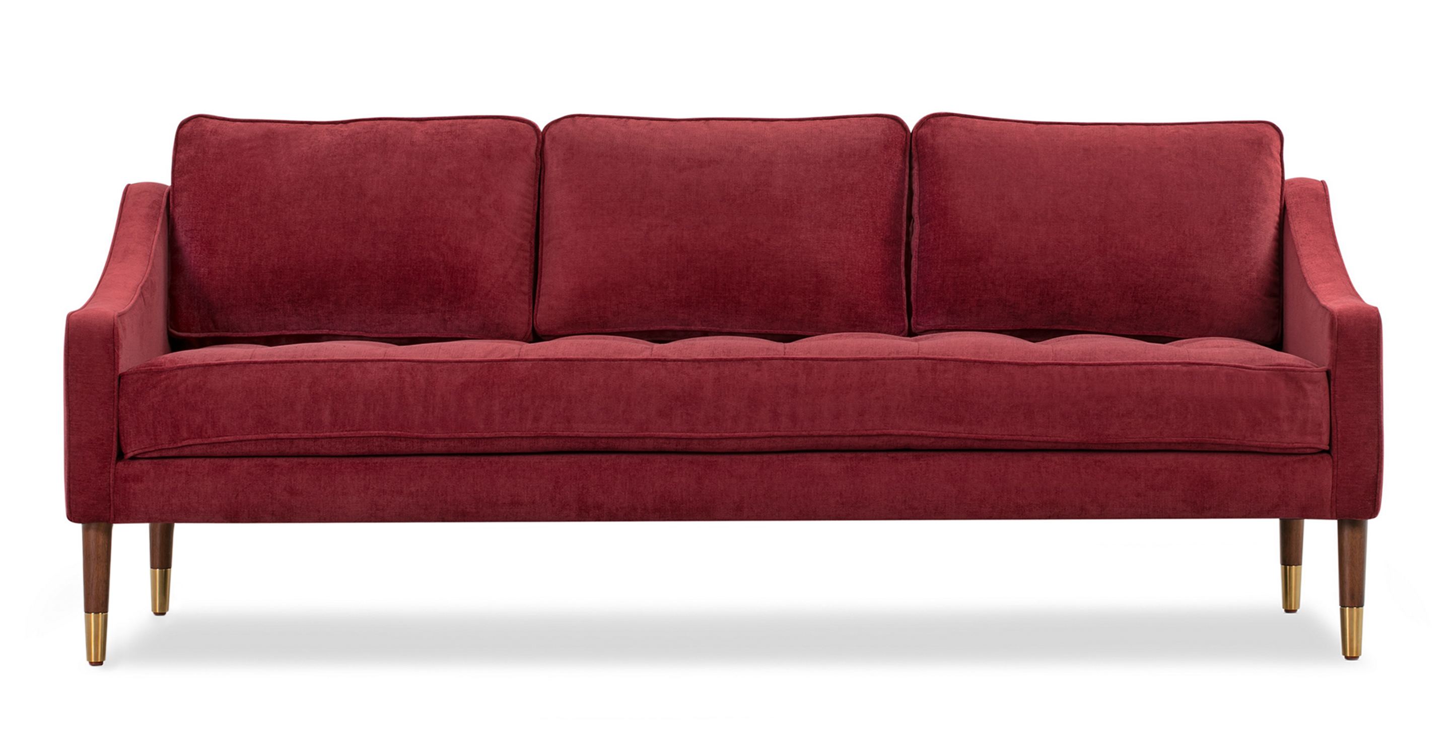 "Brando 74"" Fabric Sofa, Ruby Velvet"