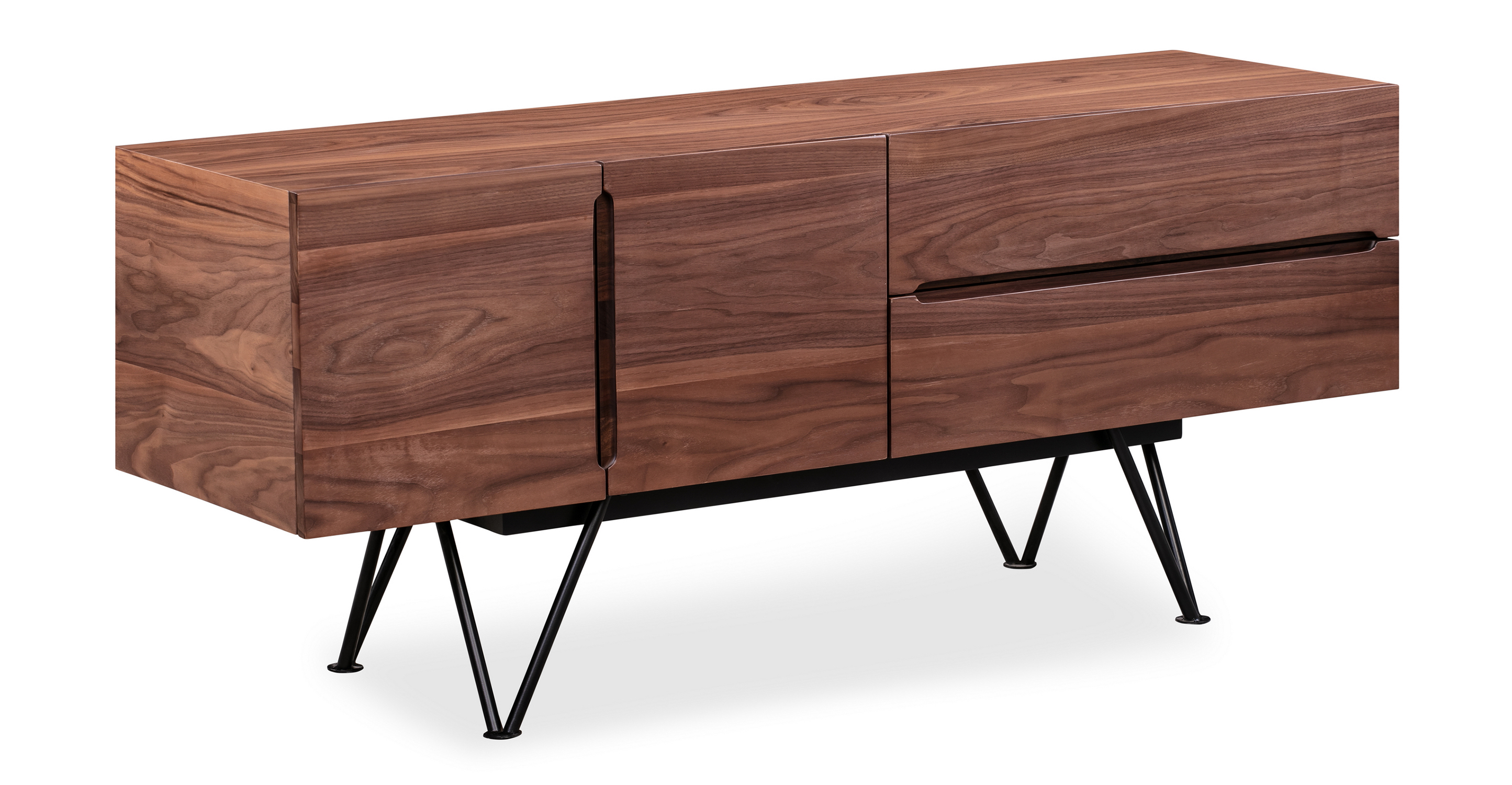 "Isamu 55"" Media Cabinet, Walnut"