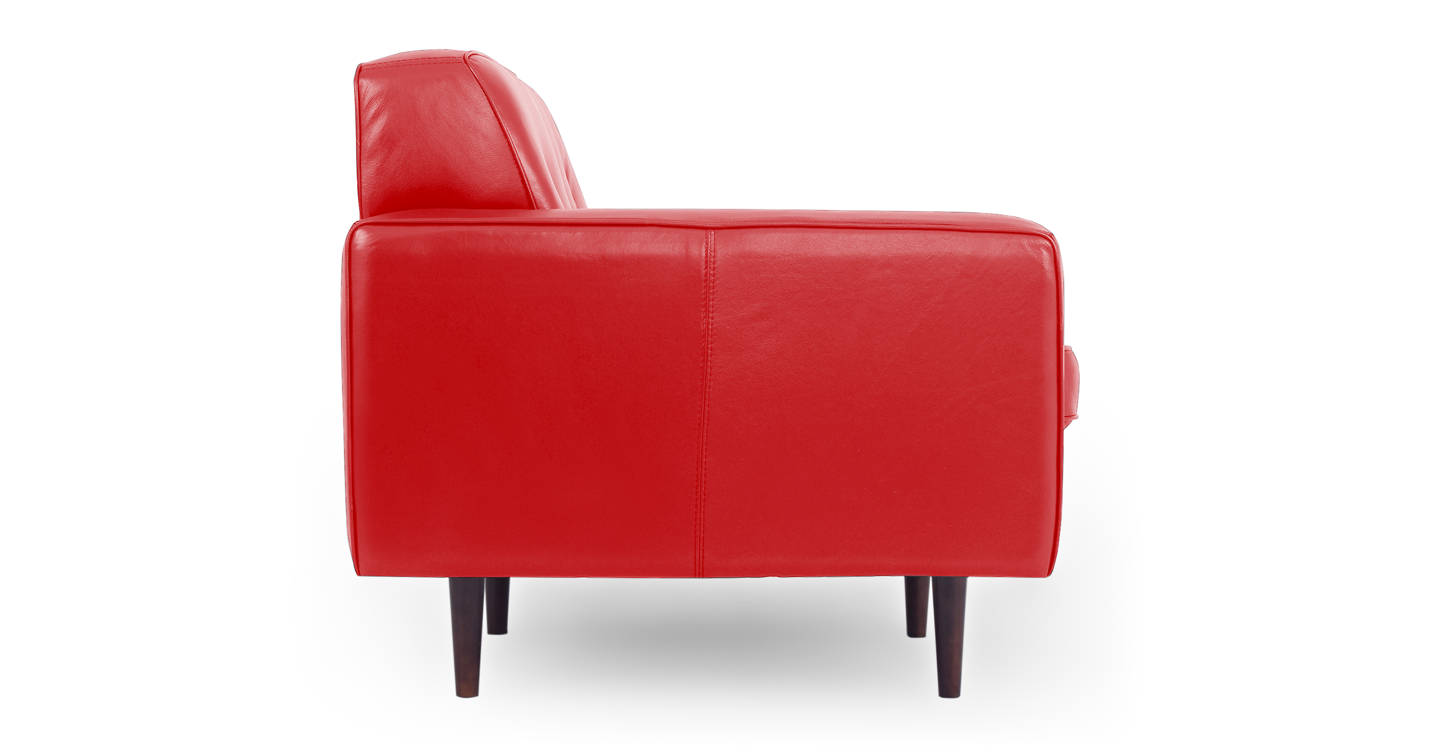 """Eleanor 35"""" Leather Chair, Red Top Grain Aniline"""