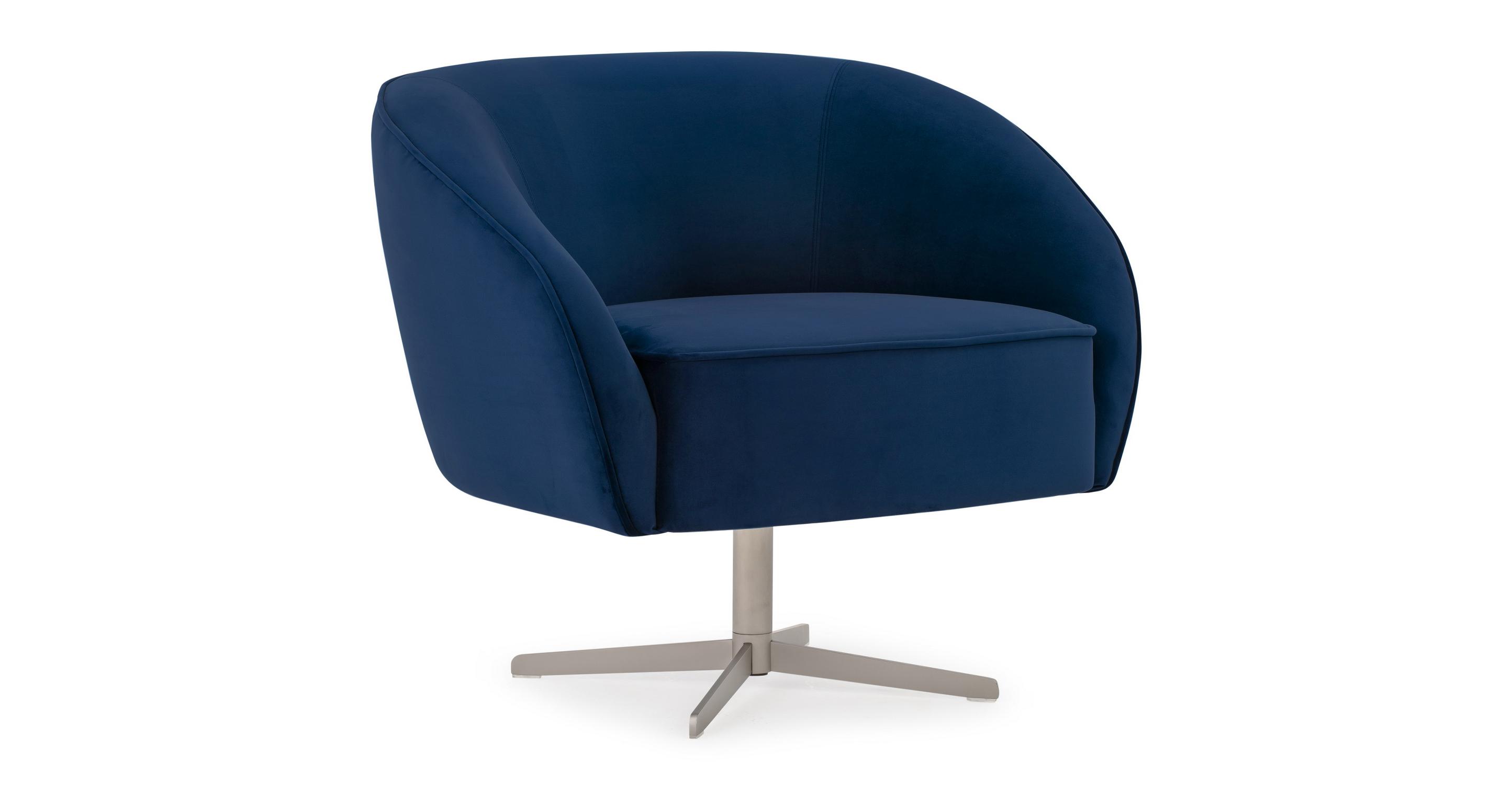 """Aria 34"""" Swivel Chair, Danube Velvet"""