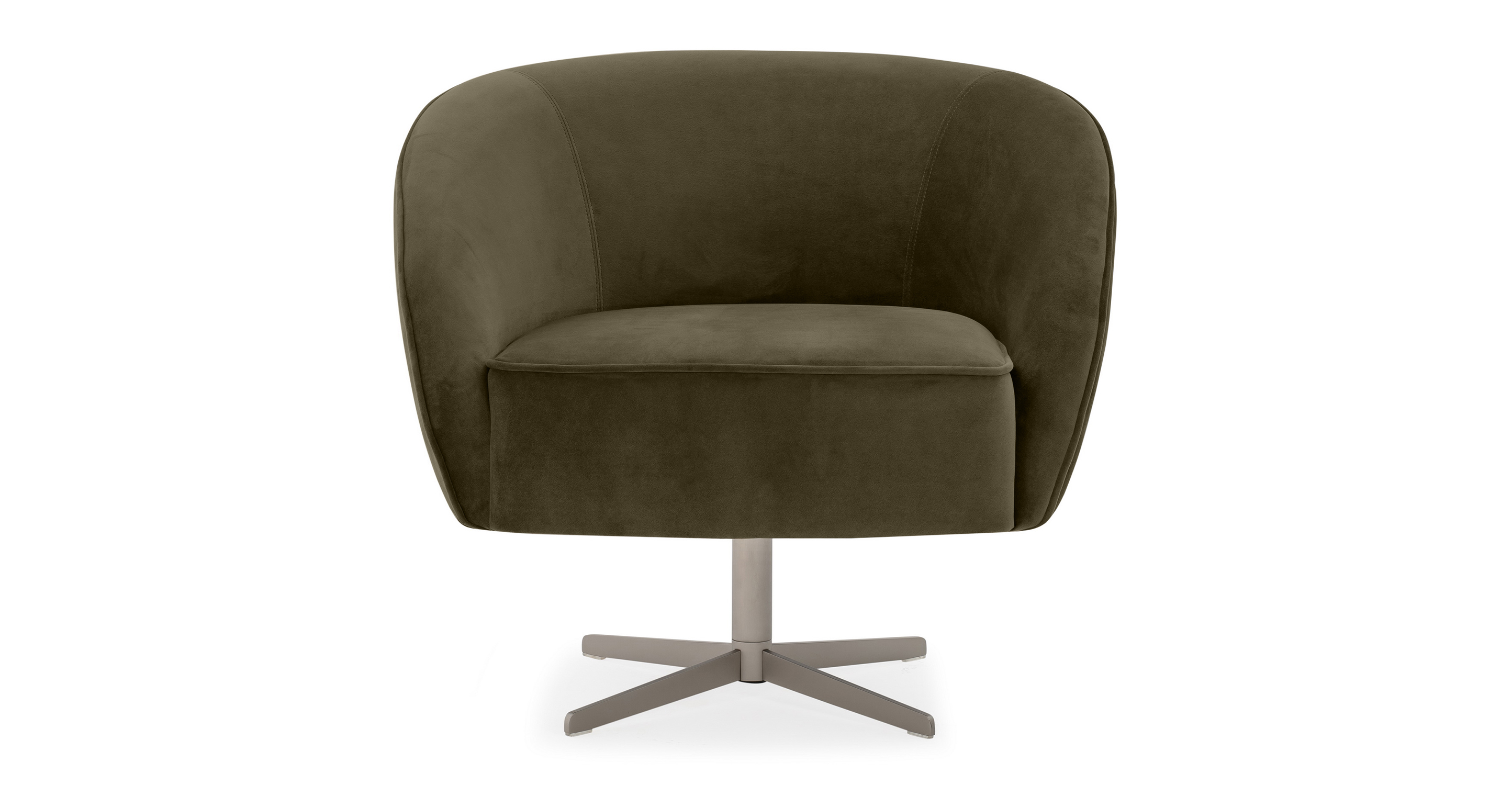 "Aria 34"" Swivel Chair, Sage Velvet"