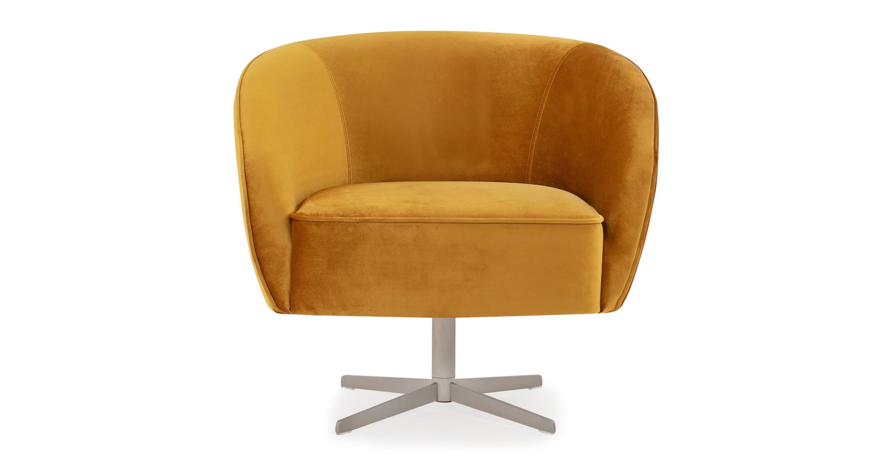"""Aria 34"""" Swivel Chair, Dazzle Velvet"""