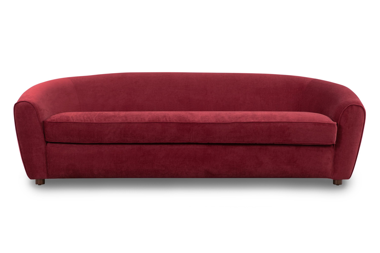 "Murphy 87"" Fabric Sofa, Ruby Velvet"