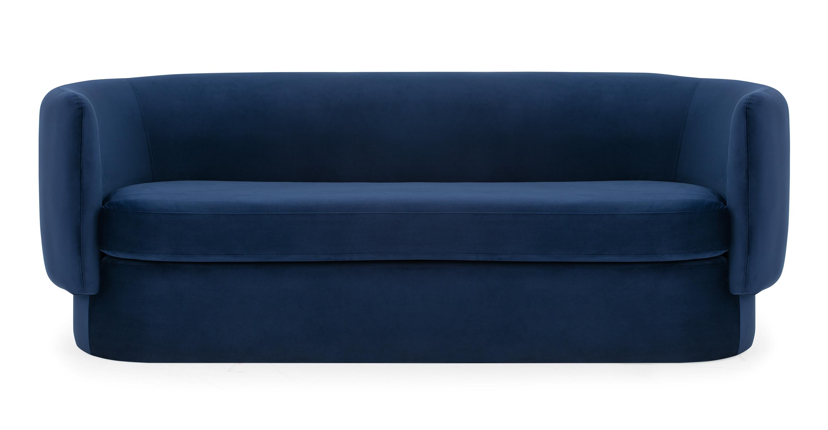 """Swagger 83"""" Fabric Sofa, Danube Velvet"""