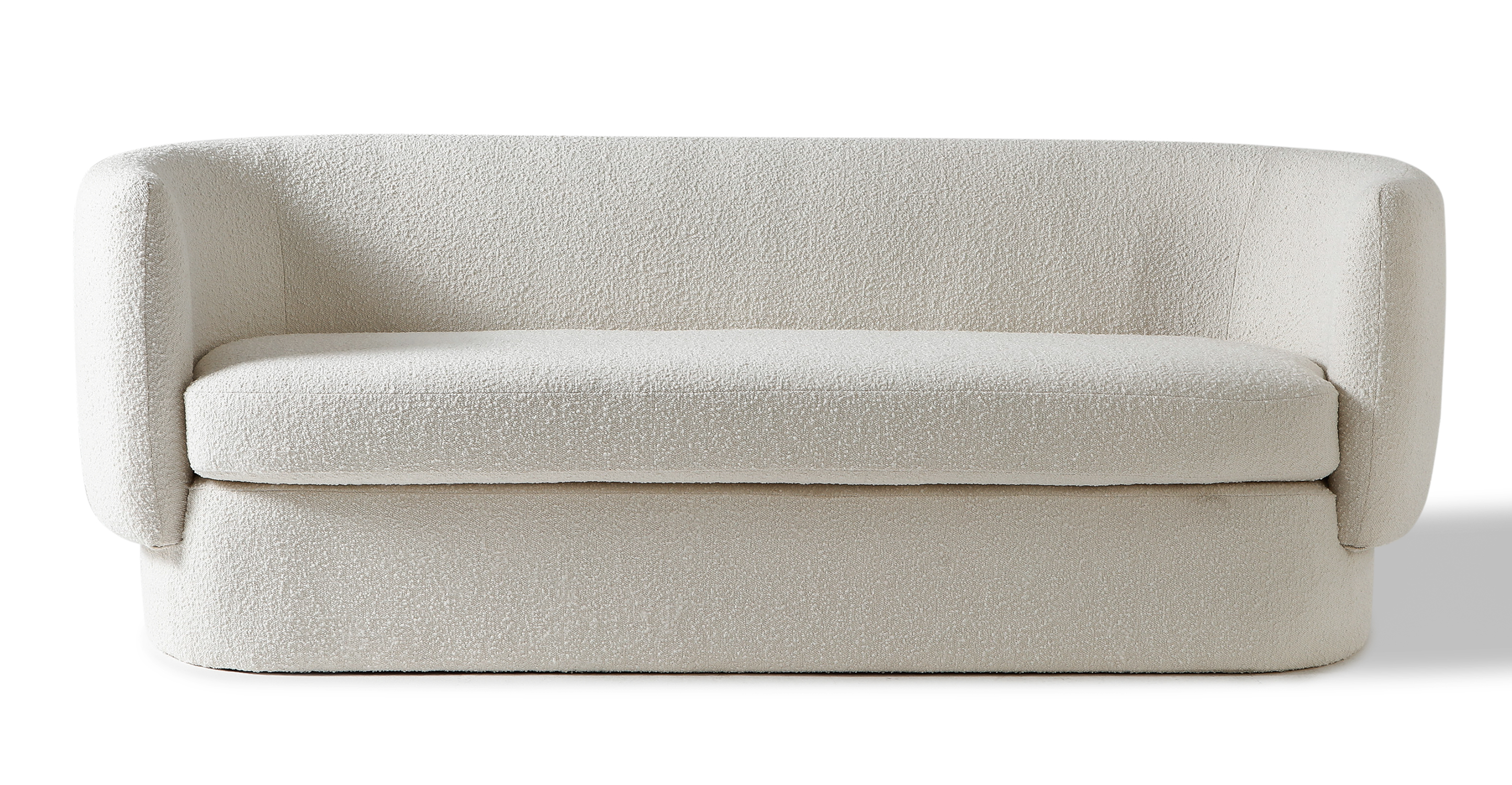 "Swagger 83"" Fabric Sofa, Blanc Boucle"