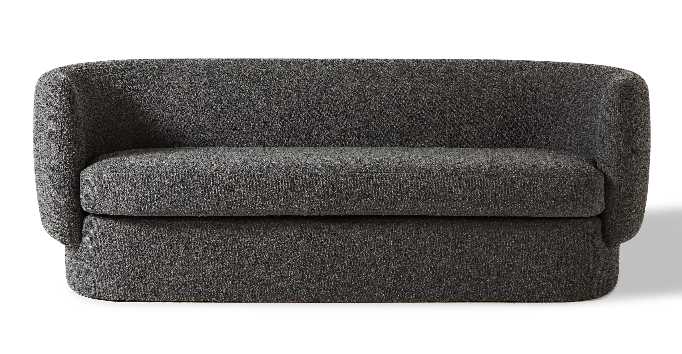 """Swagger 83"""" Fabric Sofa, Gris Boucle"""