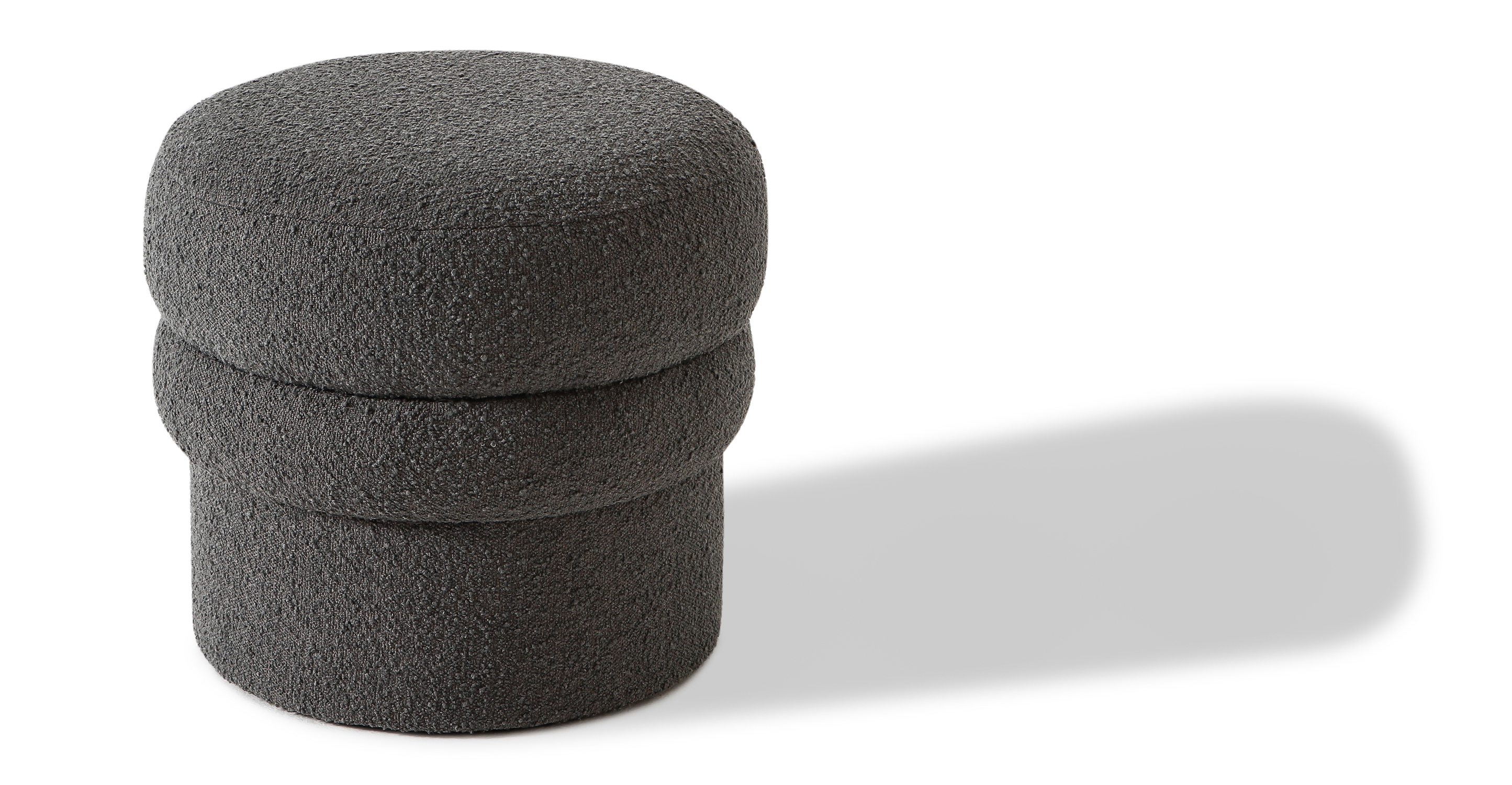 """Swagger 20"""" Fabric Stool, Gris Boucle"""