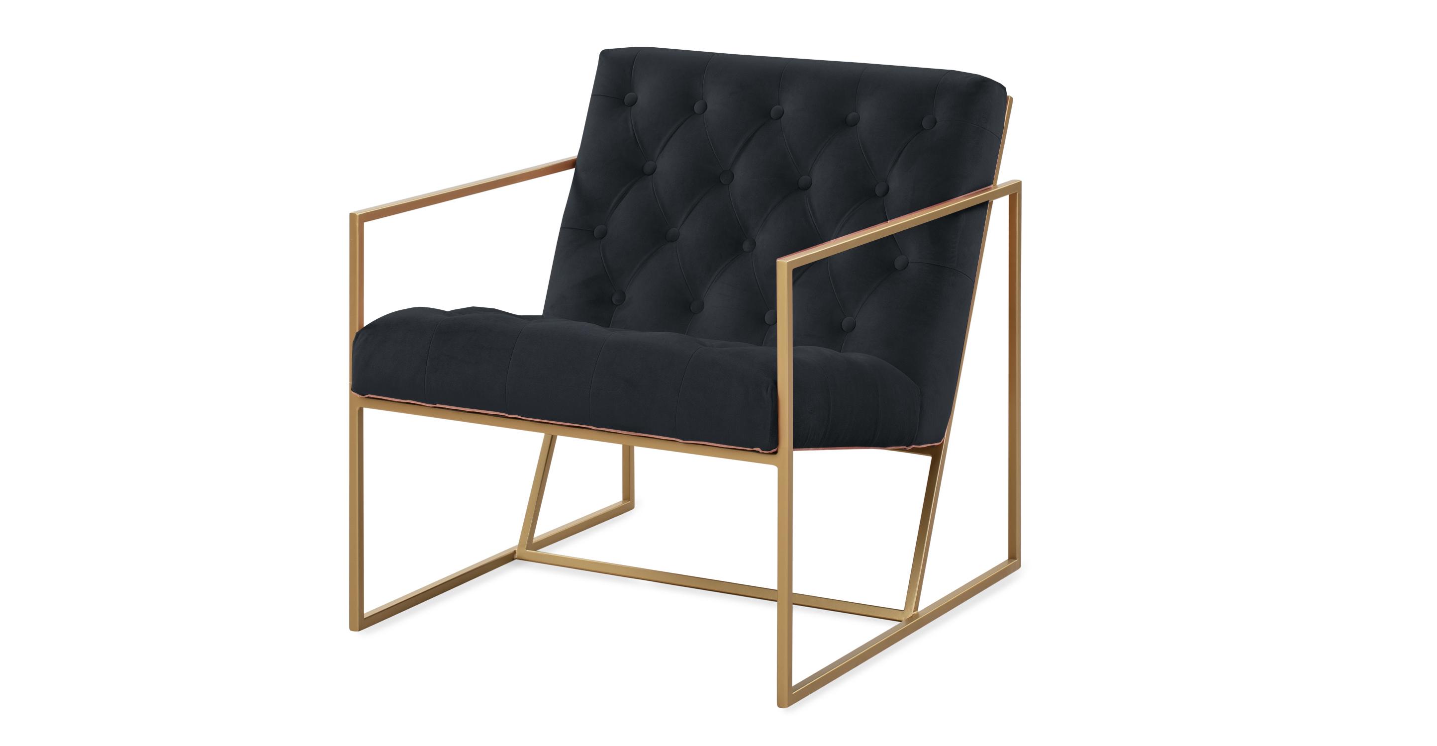 "Lawson 28"" Fabric Chair, Gold/Anchor Velvet"