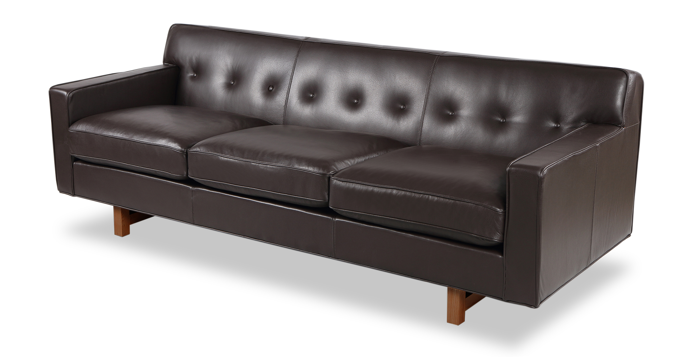 "Kennedy 86"" Leather Sofa, Brown"