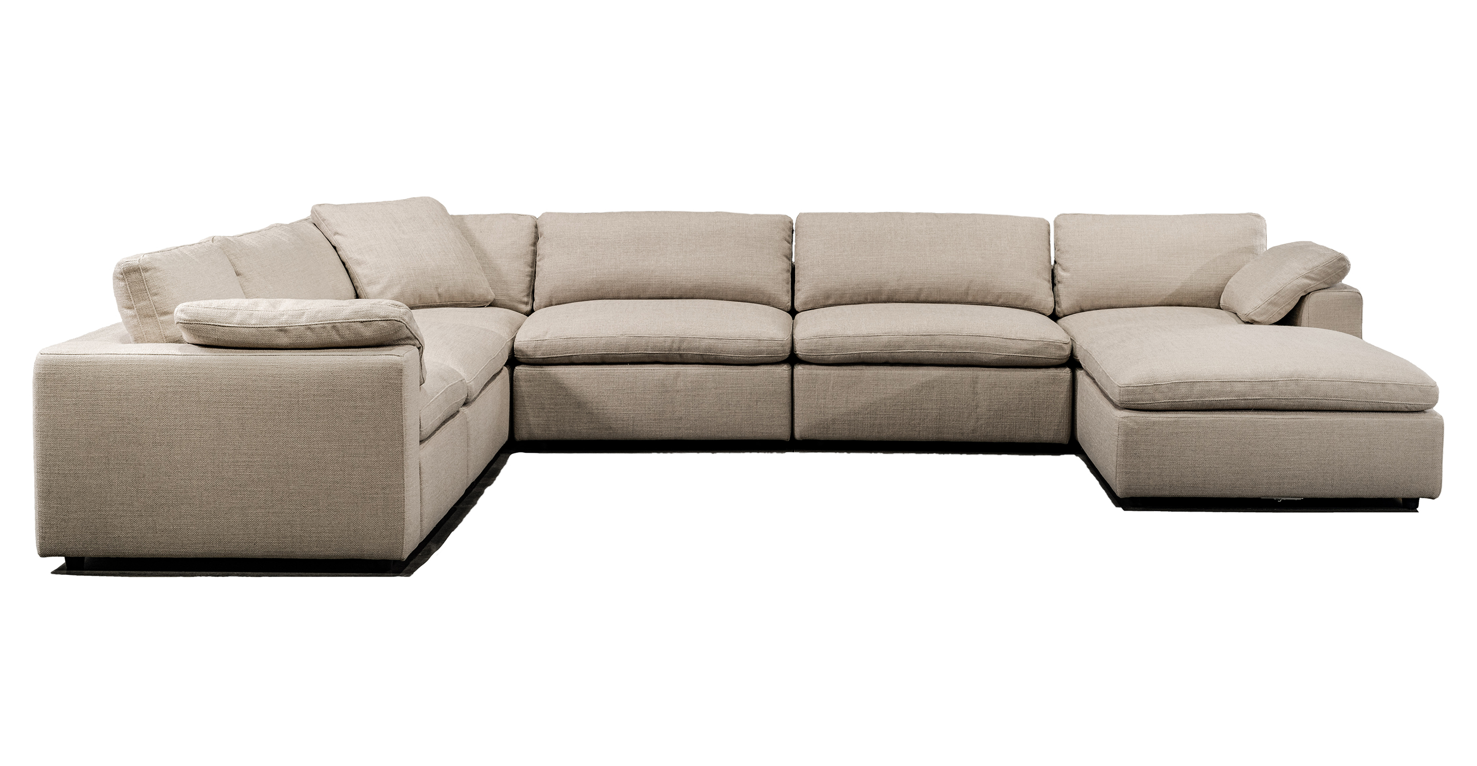 "Nest Modular 159"" Brant 7-pc Fabric Sofa Sectional, Dunes"