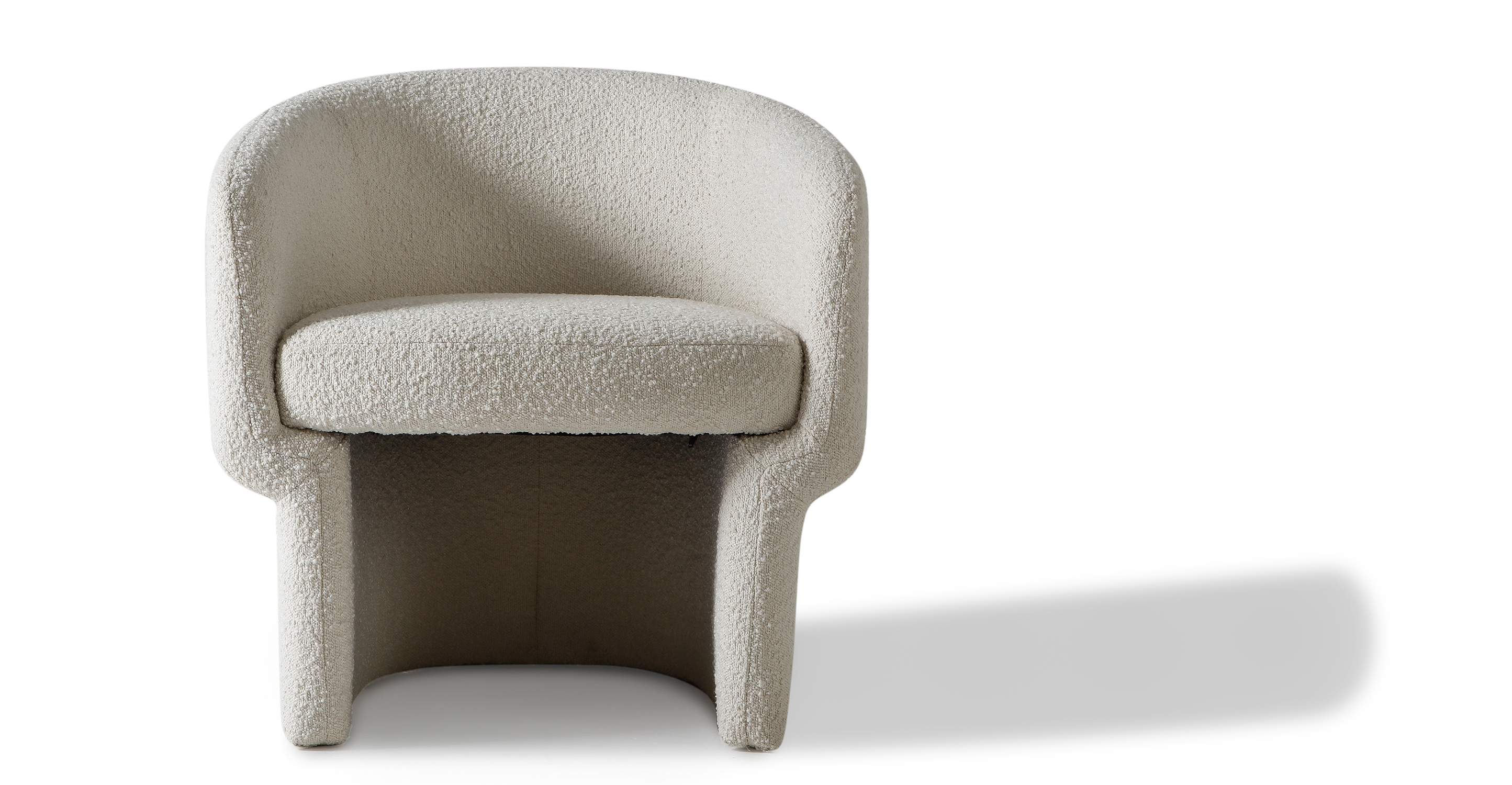 "Ovie 27"" Fabric Chair, Blanc Boucle"