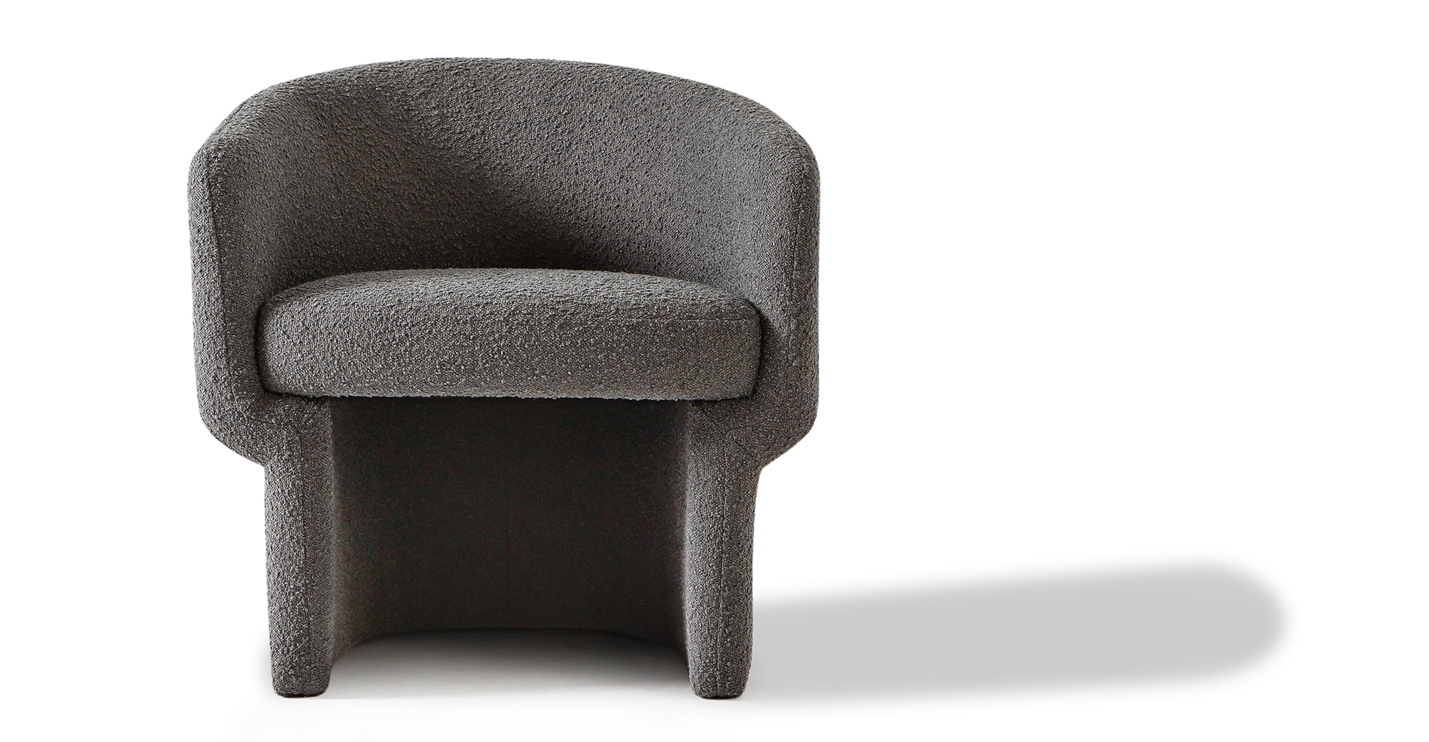 "Ovie 27"" Fabric Chair, Gris Boucle"