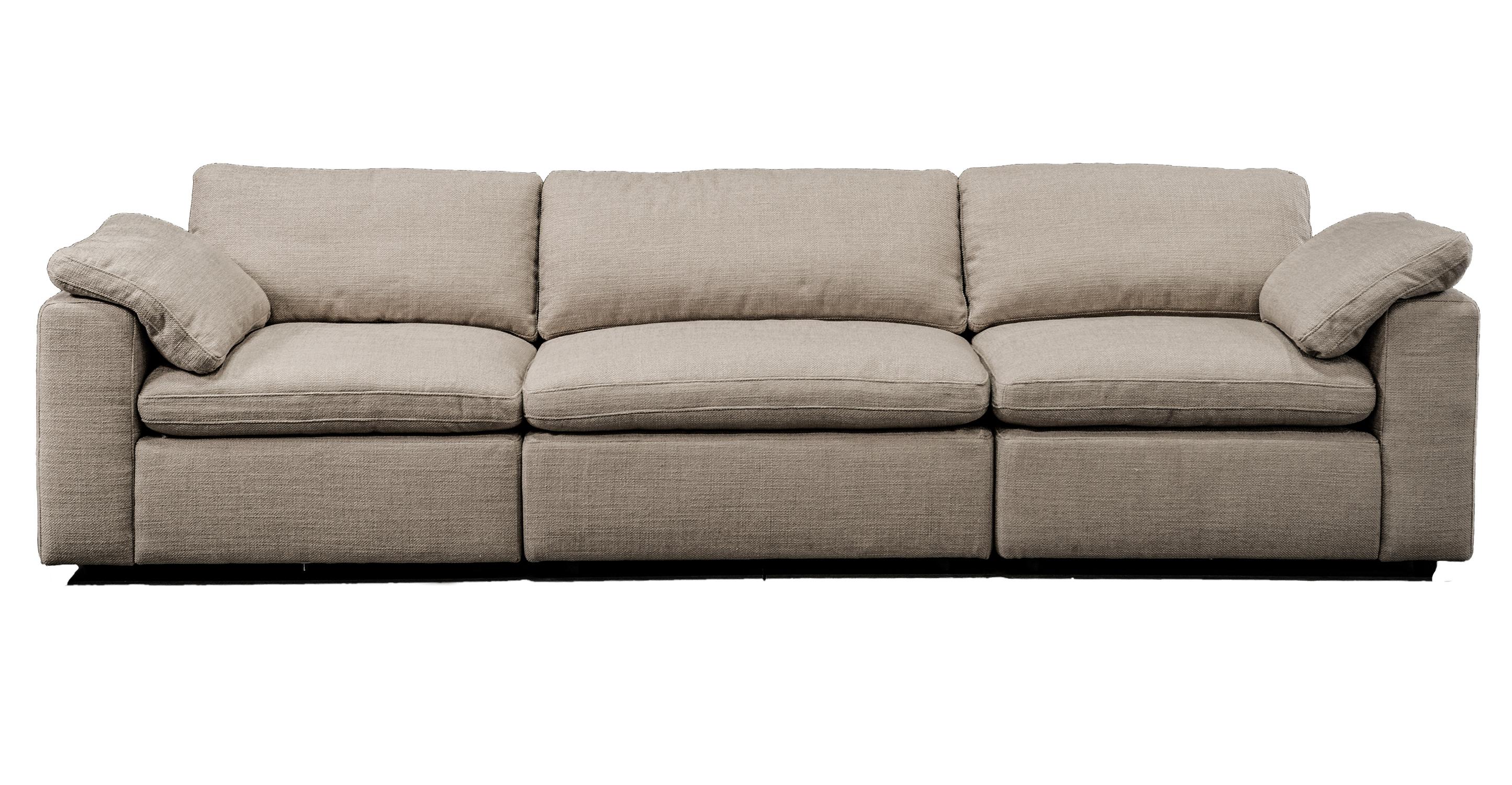 "Nest Modular 120"" Finch 3-pc Fabric Sofa Sectional, Dunes"