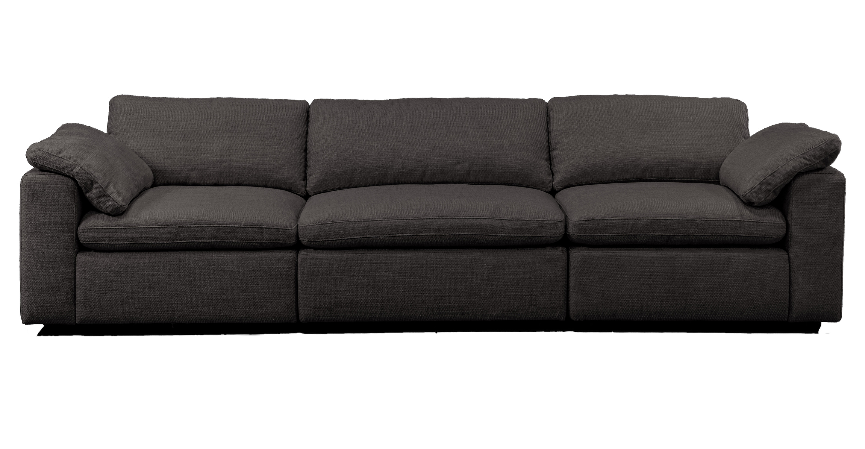 "Nest Modular 120"" Finch 3-pc Fabric Sofa Sectional, Dior Grey"