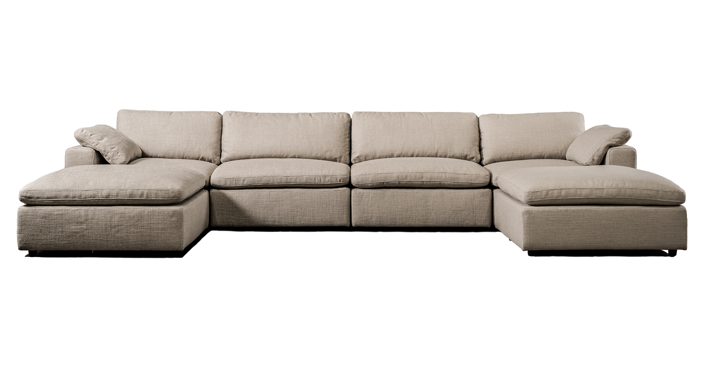 "Nest Modular 159"" Jay 6-pc Fabric Sofa Sectional, Dunes"
