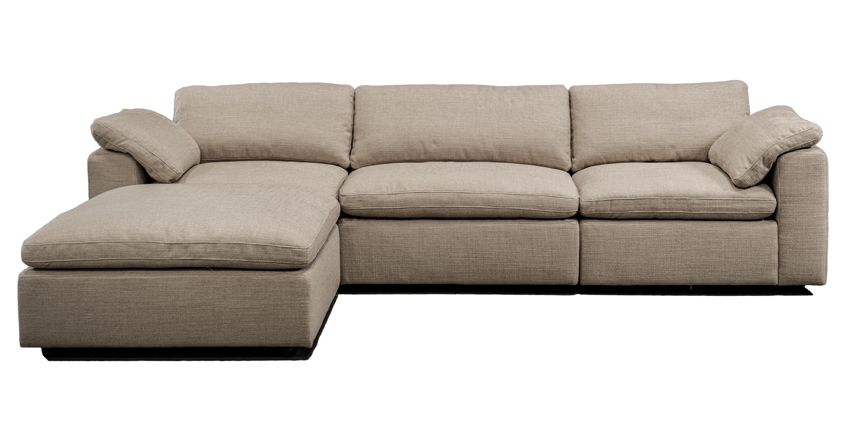 "Nest Modular 120"" Wren 4-pc Fabric Sofa Sectional, Dunes"