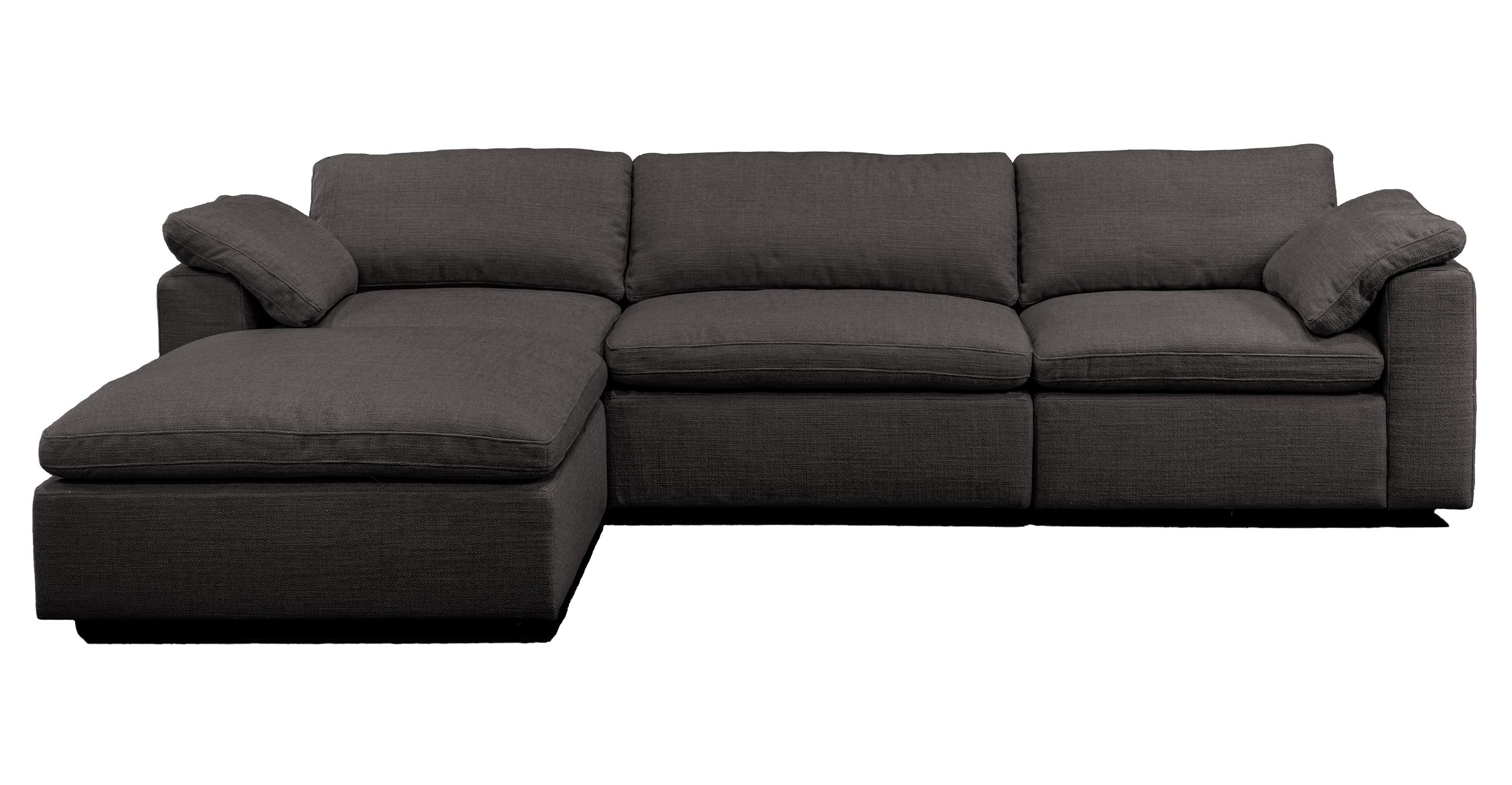 "Nest Modular 120"" Wren 4-pc Fabric Sofa Sectional, Dior Grey"
