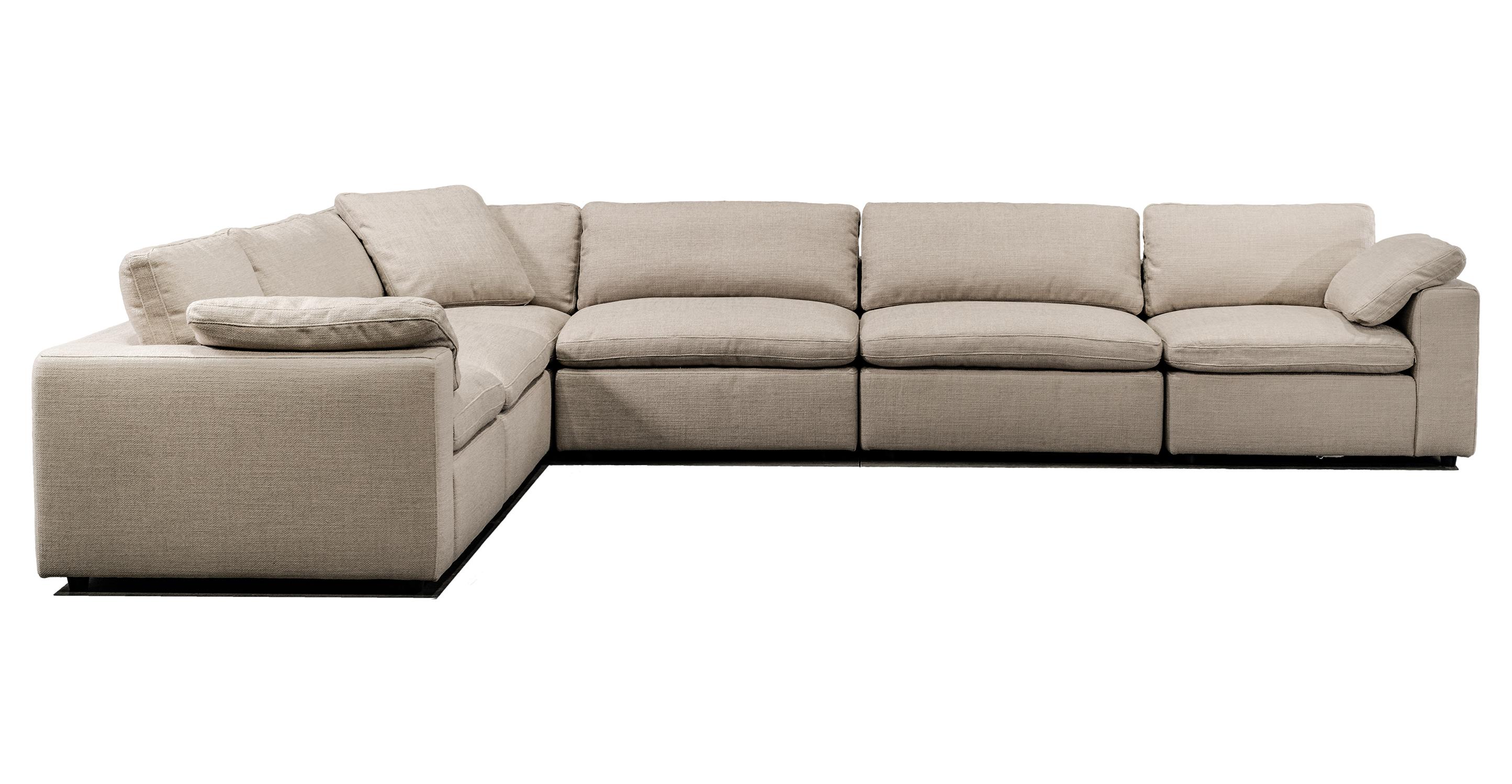 "Nest Modular 159"" Lark 6-pc Fabric Sofa Sectional, Dunes"