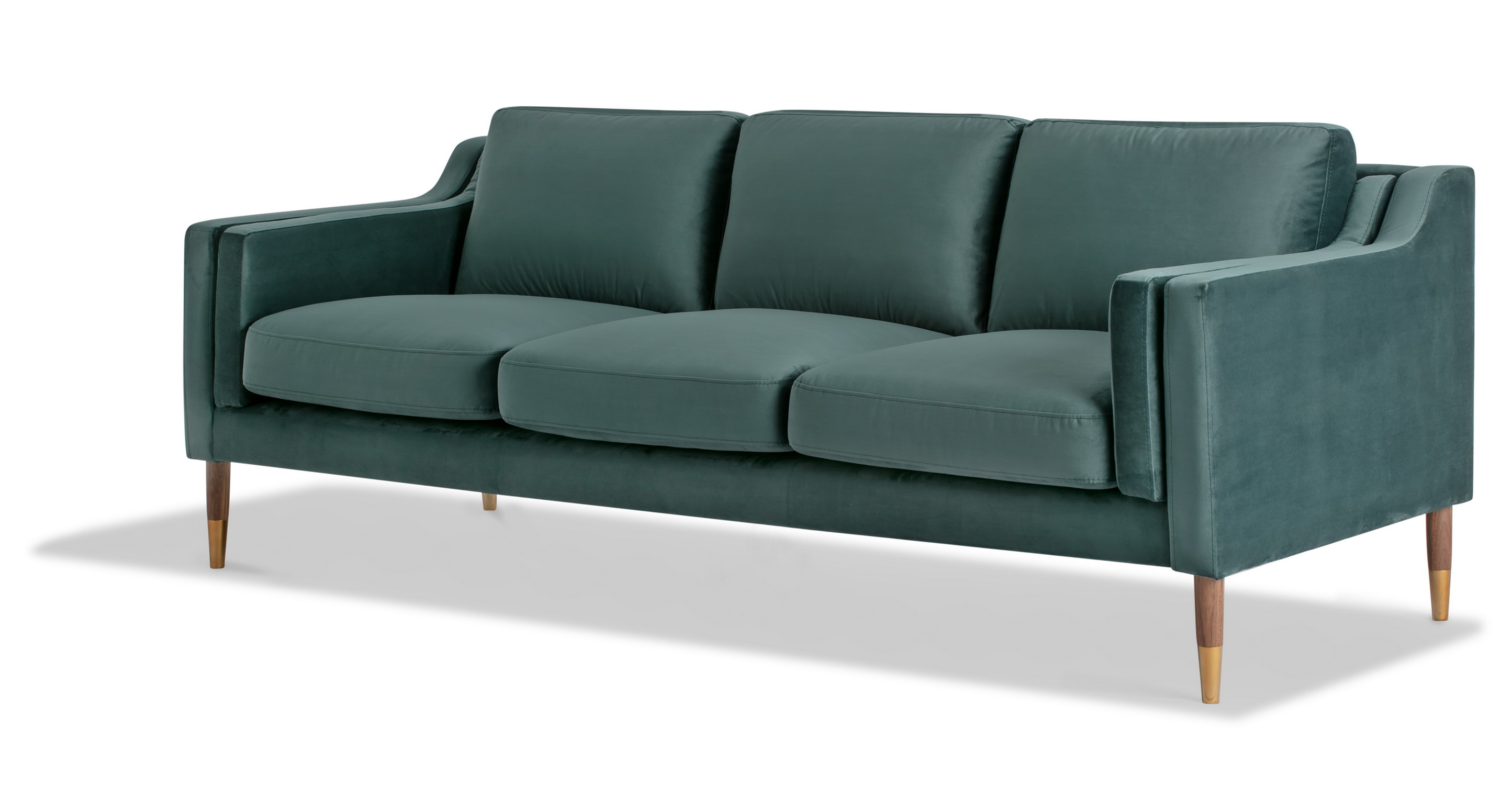 "Monroe Luxe 87"" Fabric Sofa, Prussian Velvet"