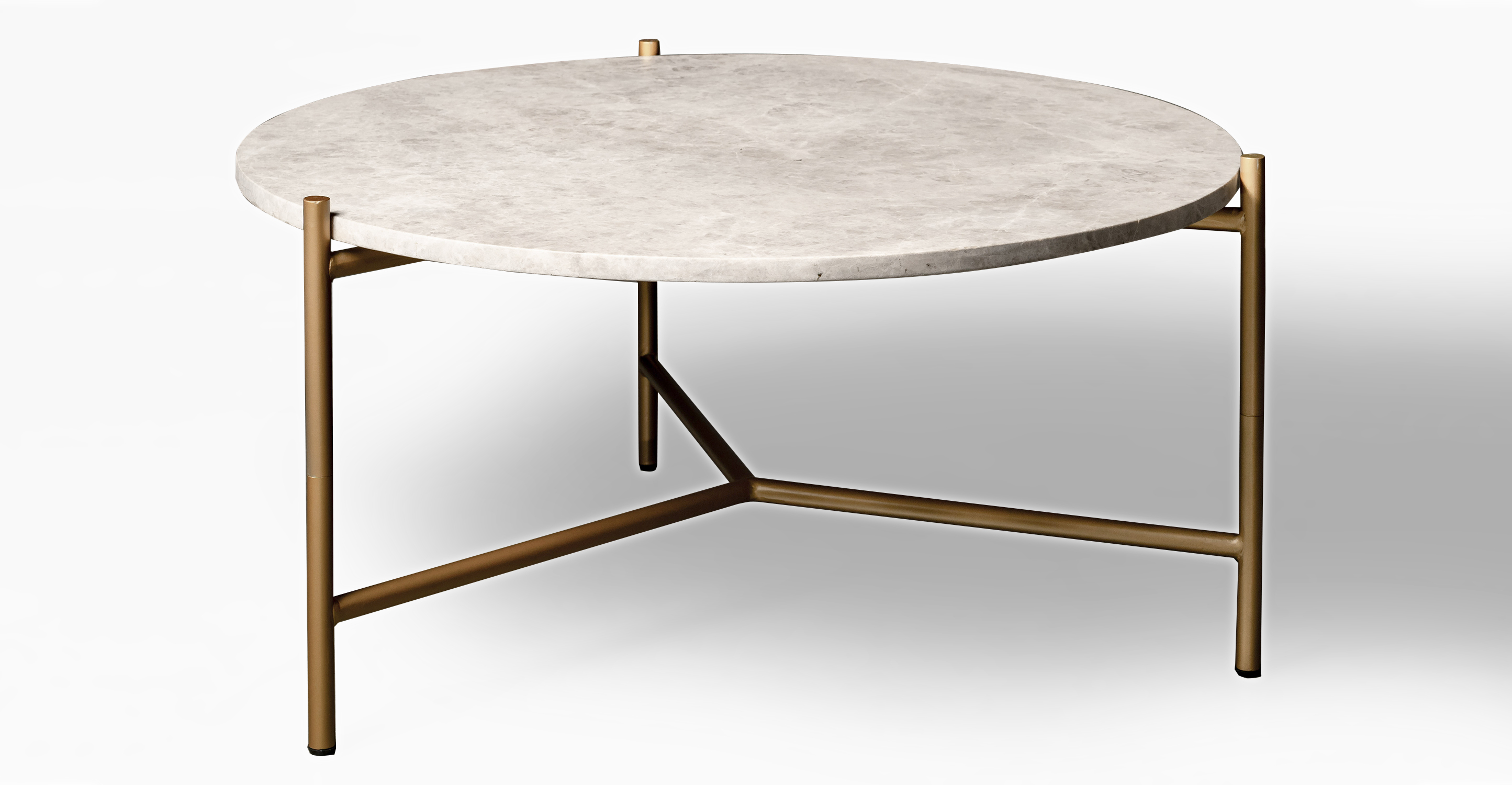 """Smiley 31"""" Coffee Table, Marble"""