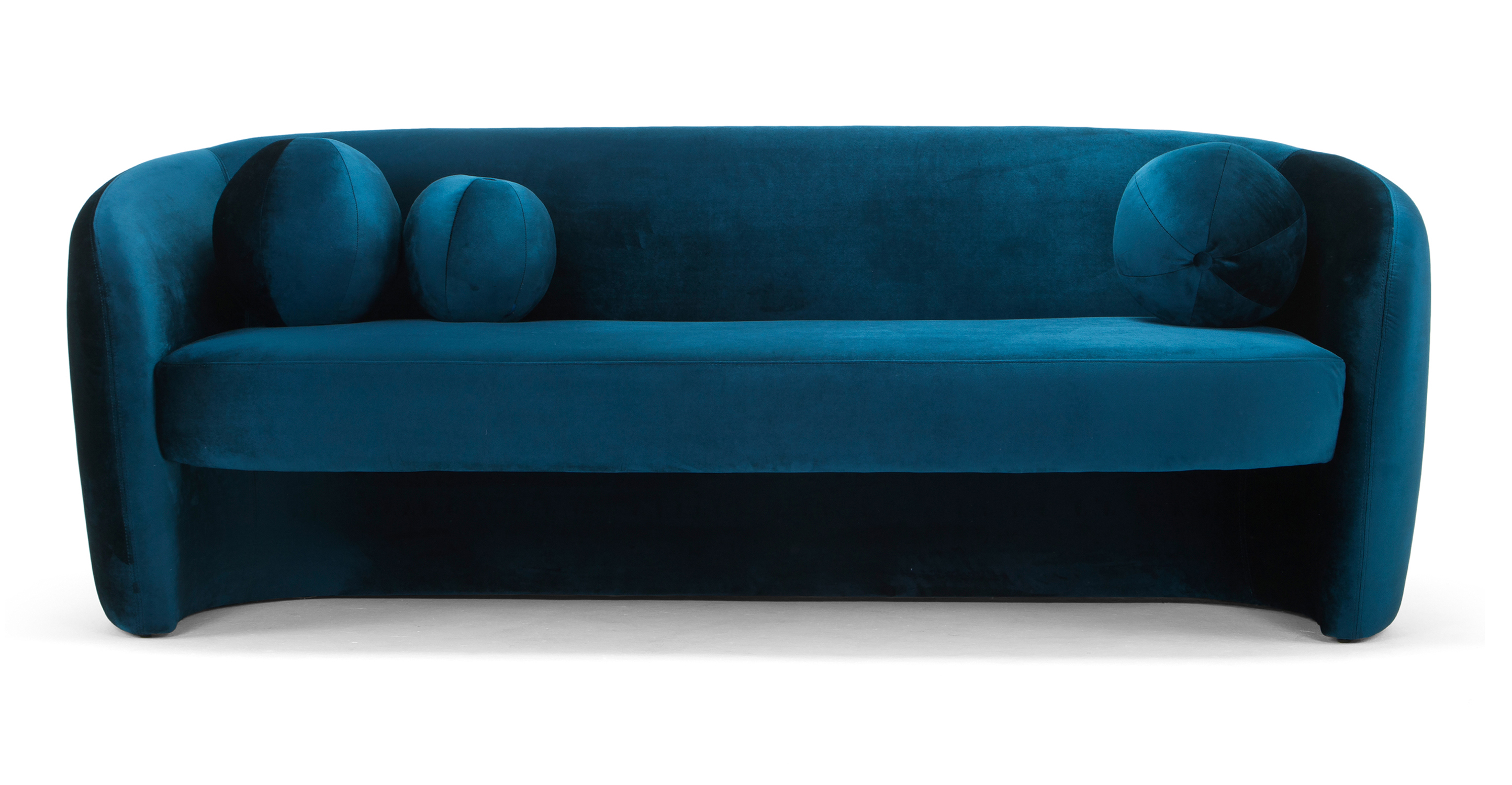 "Miranda 82"" Fabric Sofa, Revel Velvet"