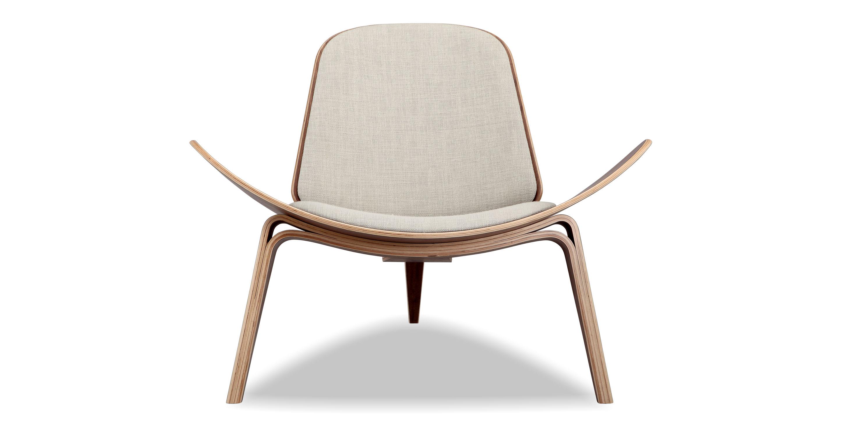 Tripod Fabric Chair 2-pc Set, Walnut/Urban Hemp