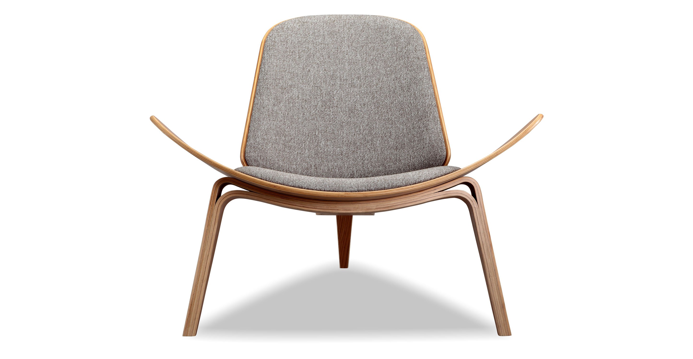 Tripod Fabric Chair 2-pc Set, Oak/Urban Pebble