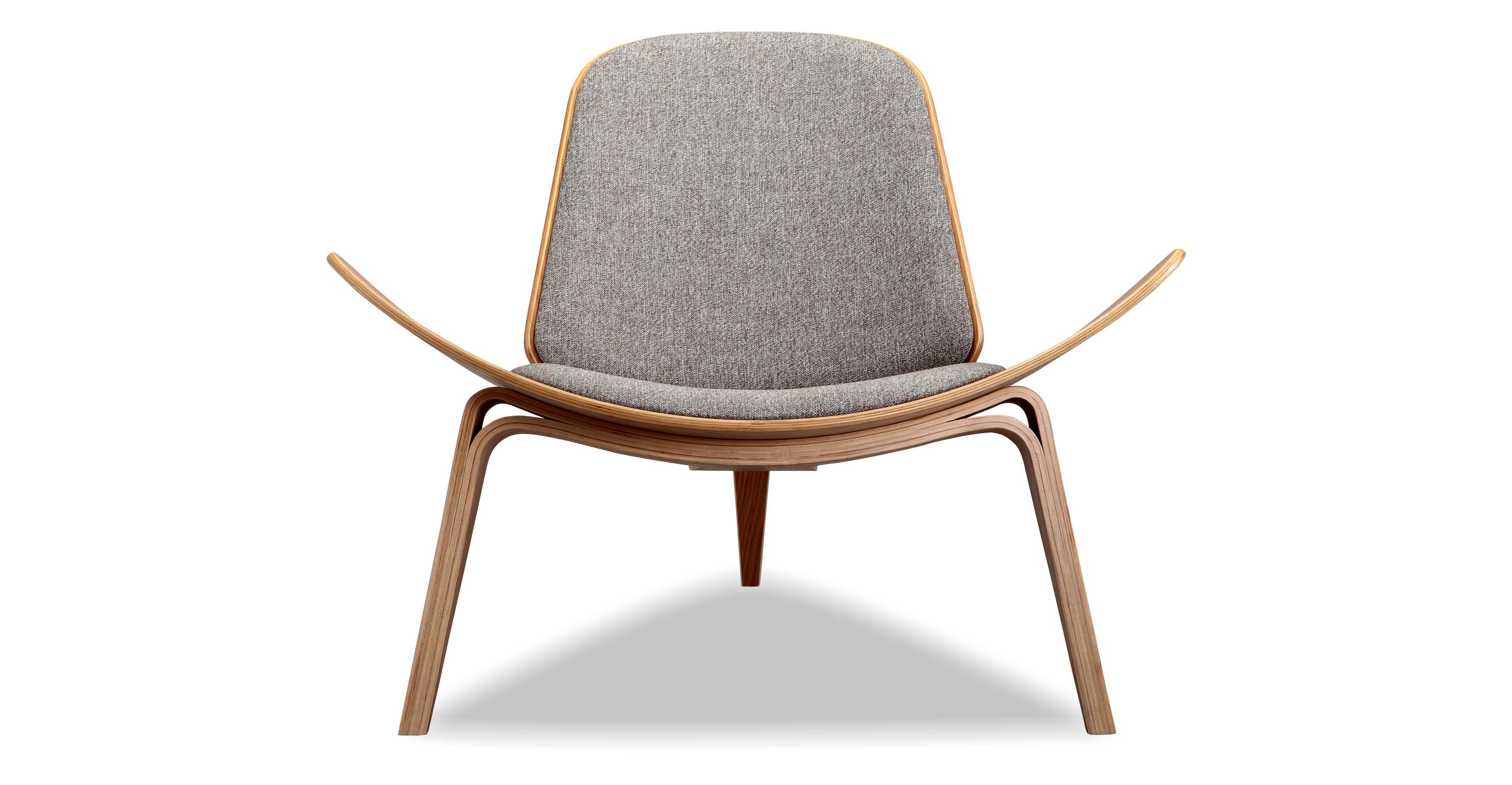 Tripod Fabric Chair 2-pc Set, Oak/Urban Pebble
