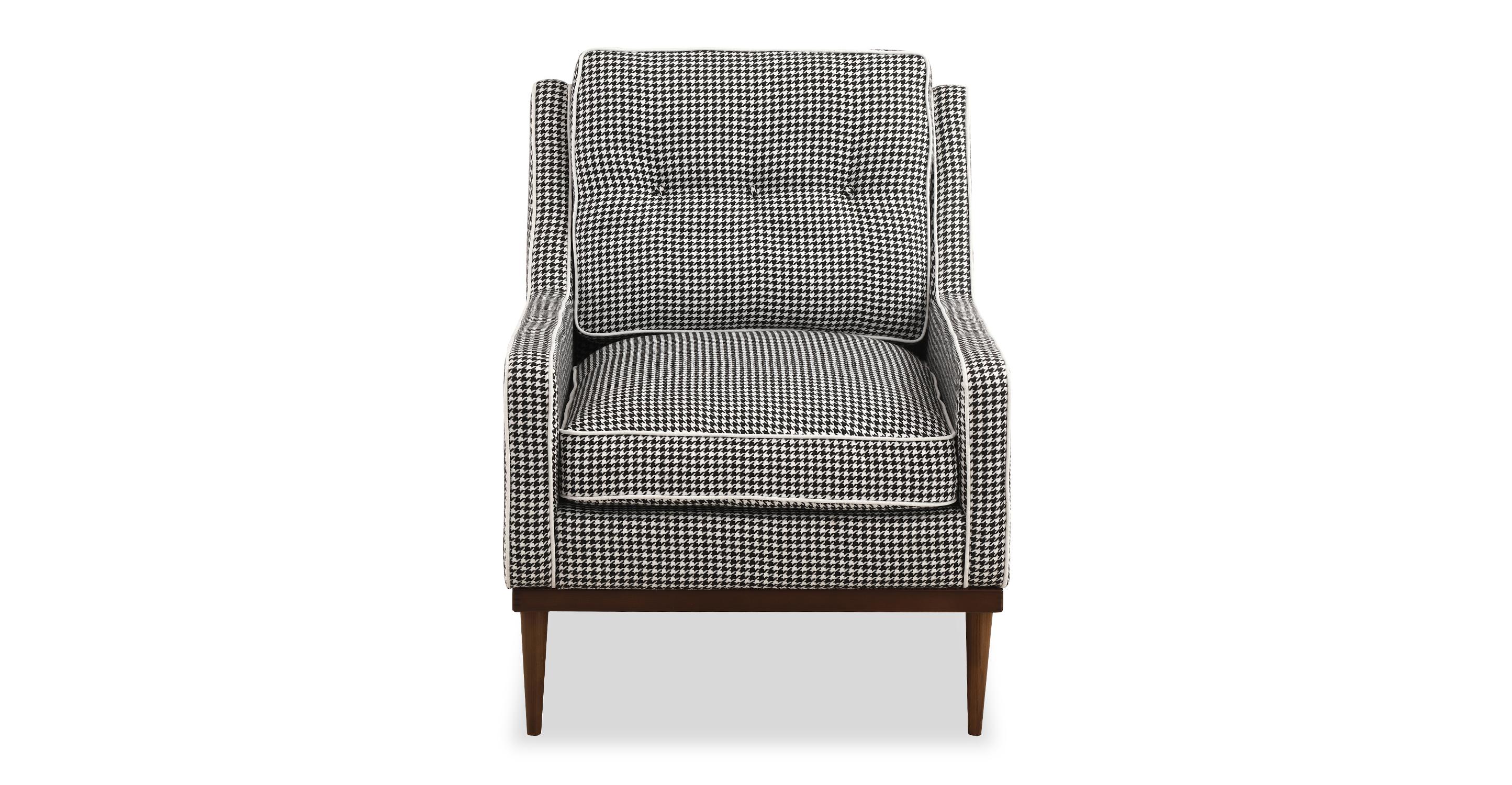 "Elektra 27"" Fabric Armchair, Houndstooth"