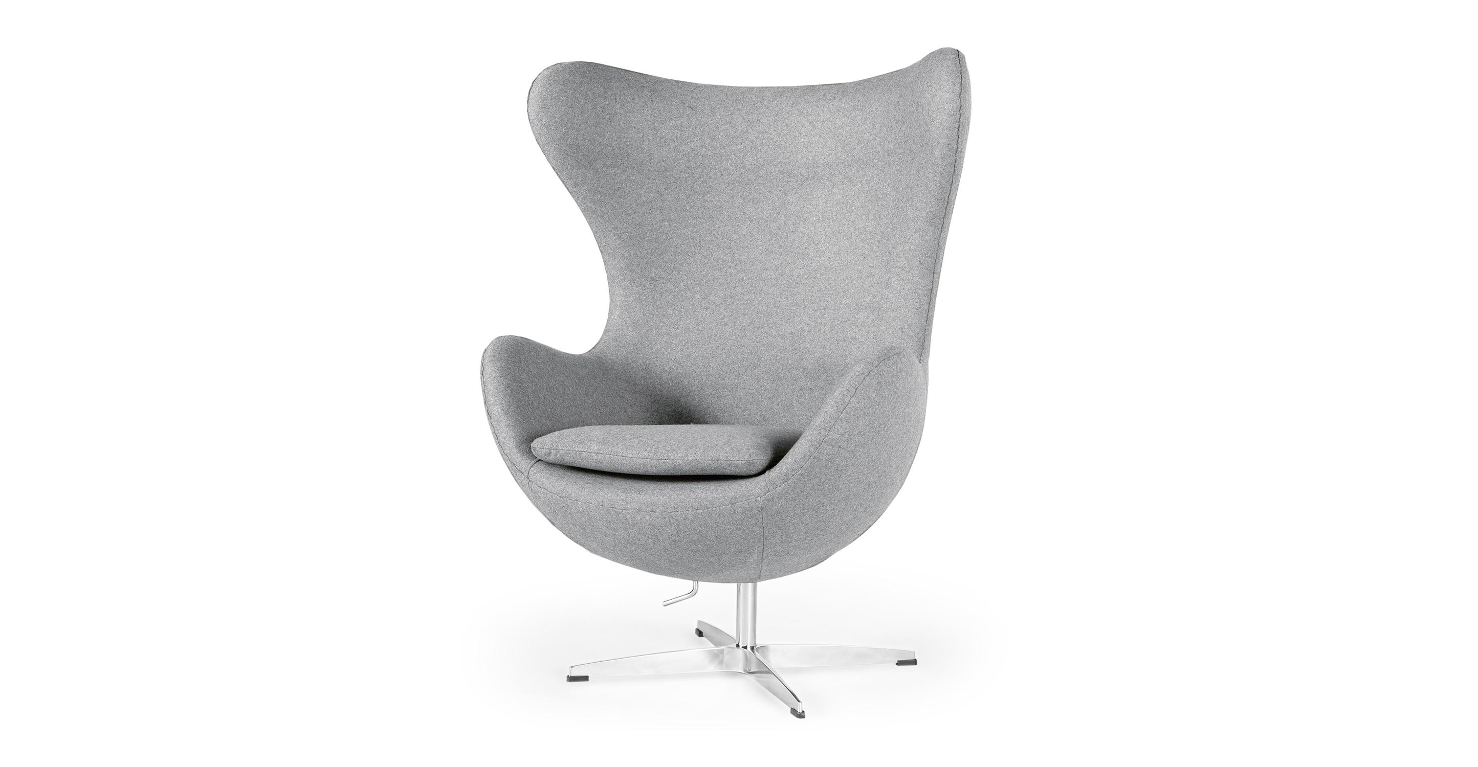 "Amoeba 35"" Swivel Fabric Chair, Cadet Grey"