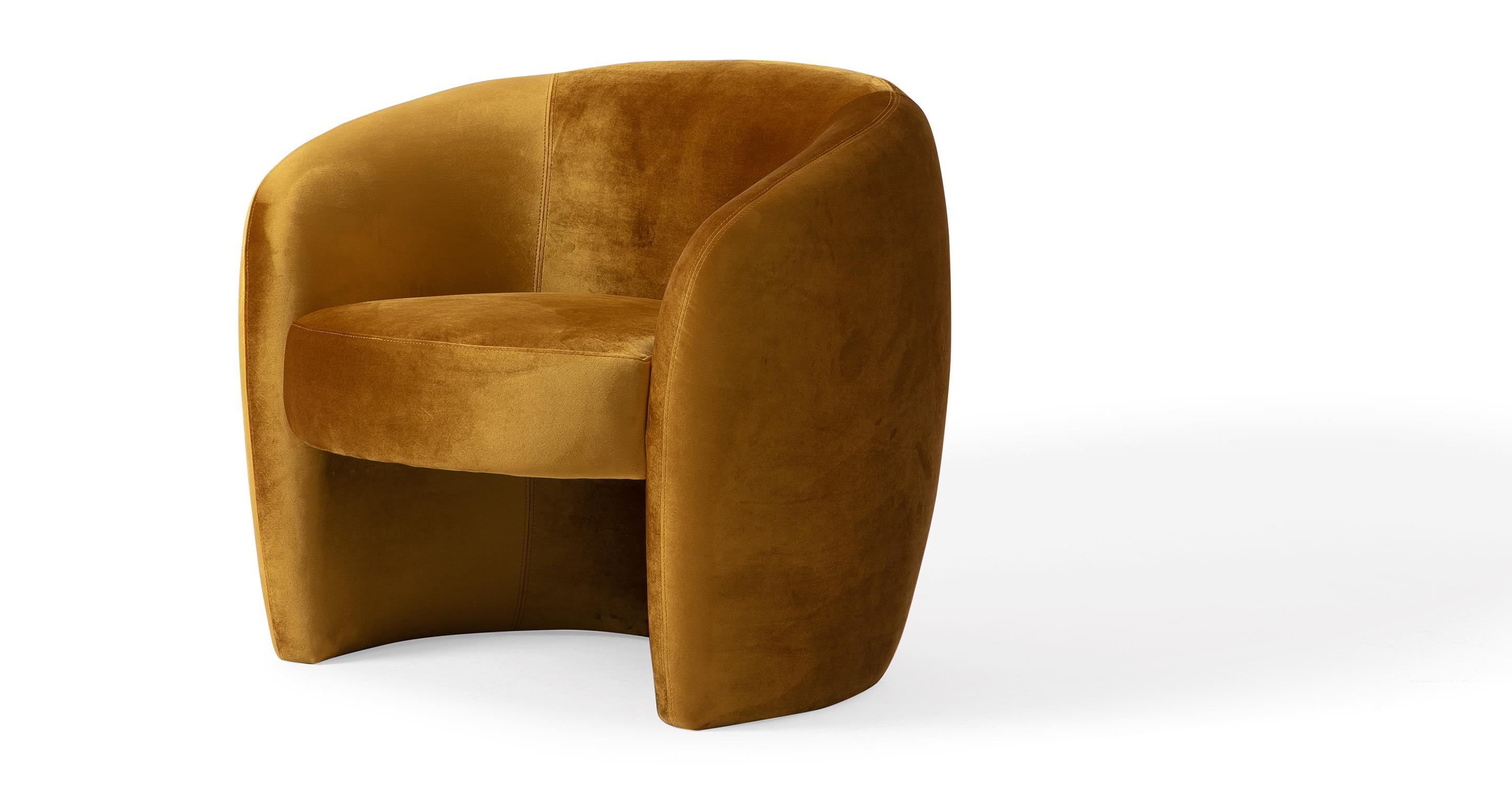 "Miranda 35"" Fabric Chair, Dazzle Velvet"