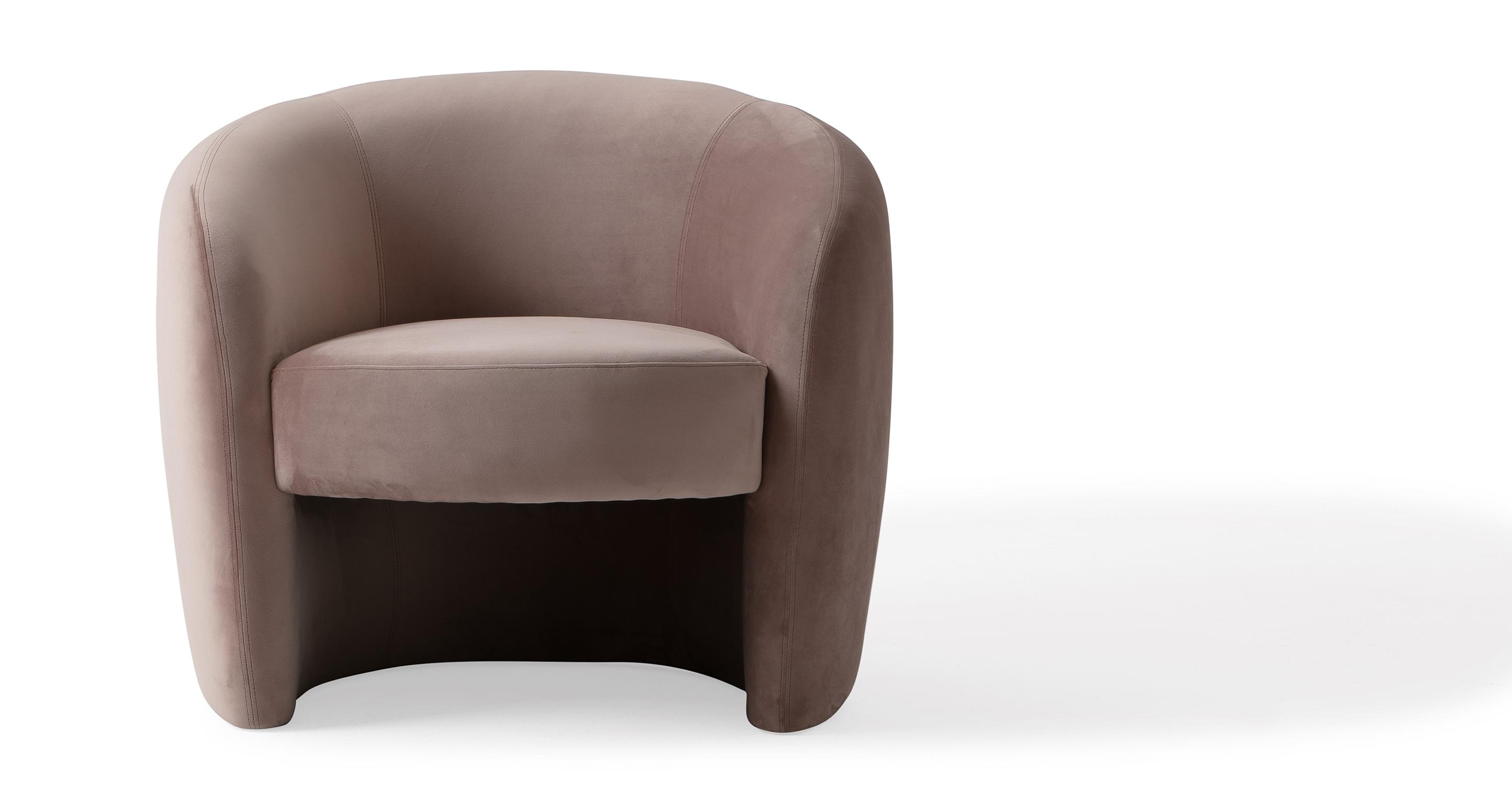 """Miranda 35"""" Fabric Chair, Enchant Velvet"""