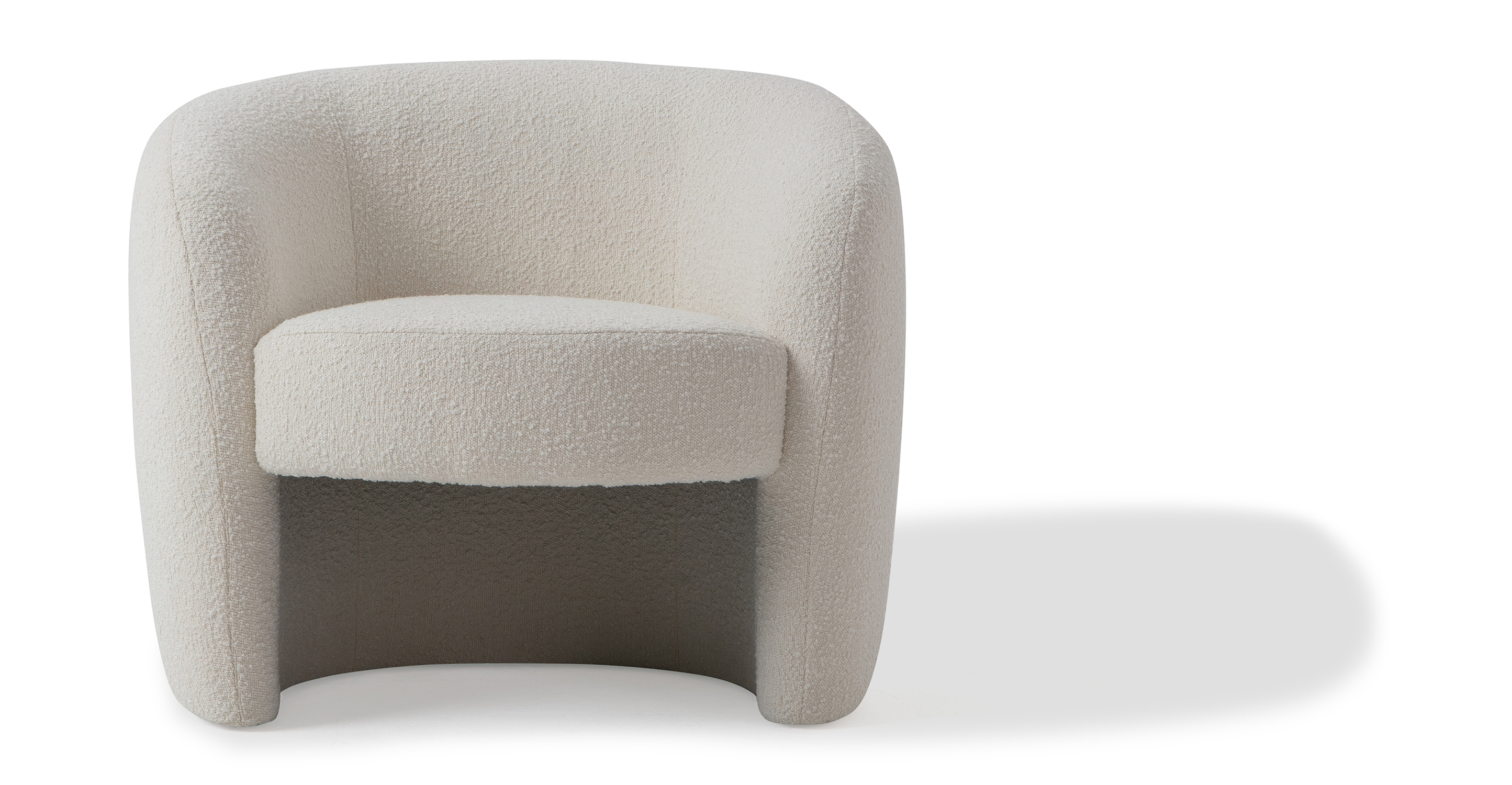 "Miranda 35"" Fabric Chair, Blanc Boucle"