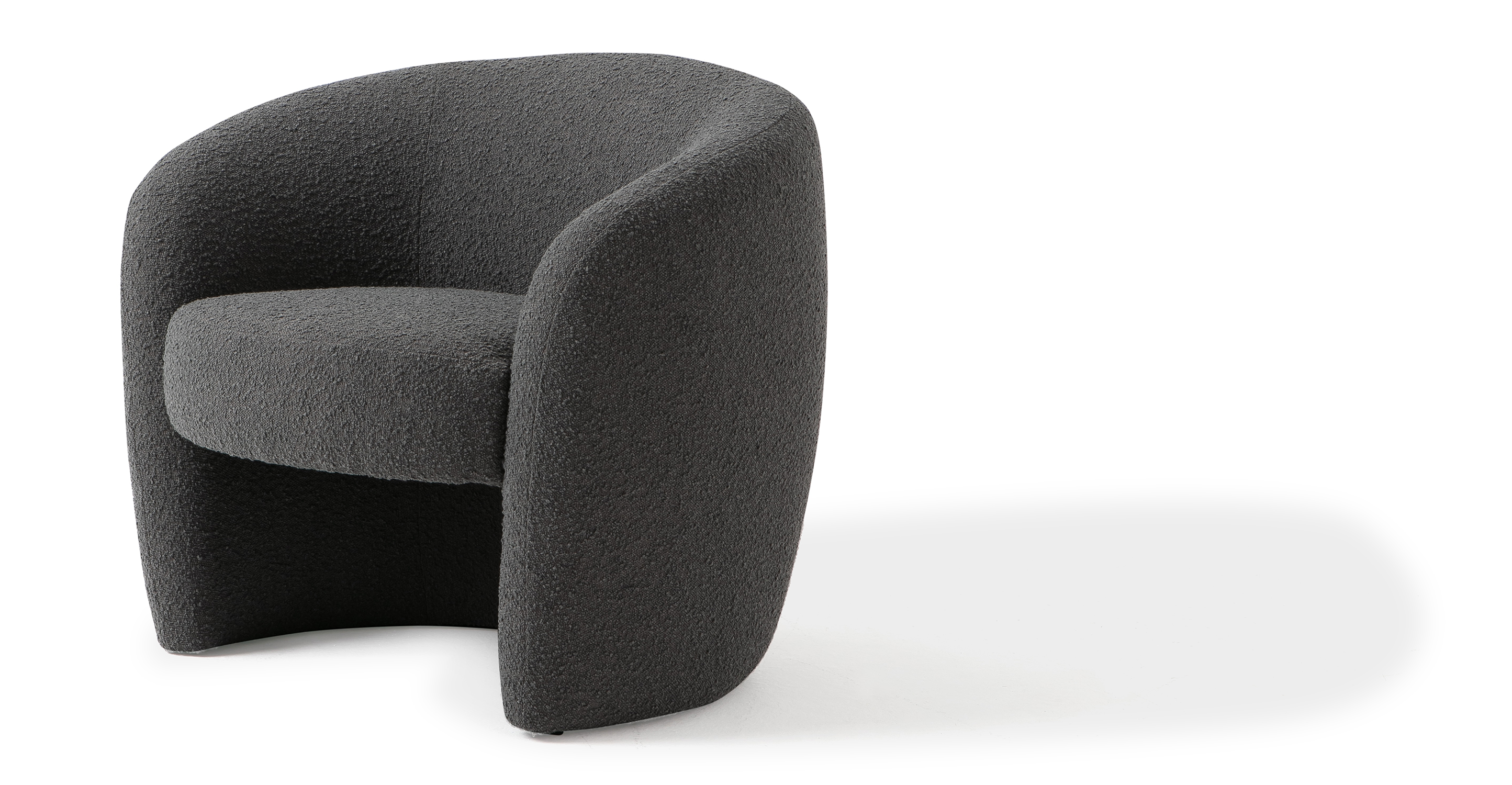 "Miranda 35"" Fabric Chair, Gris Boucle"