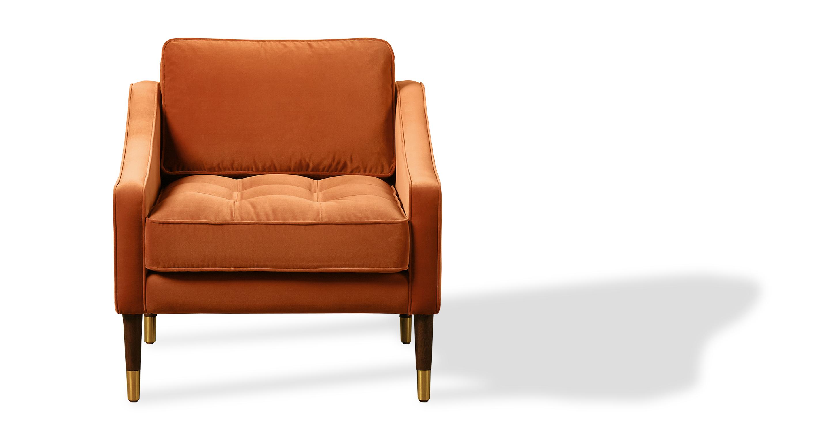 "Brando 29"" Fabric Chair, Romance Velvet"