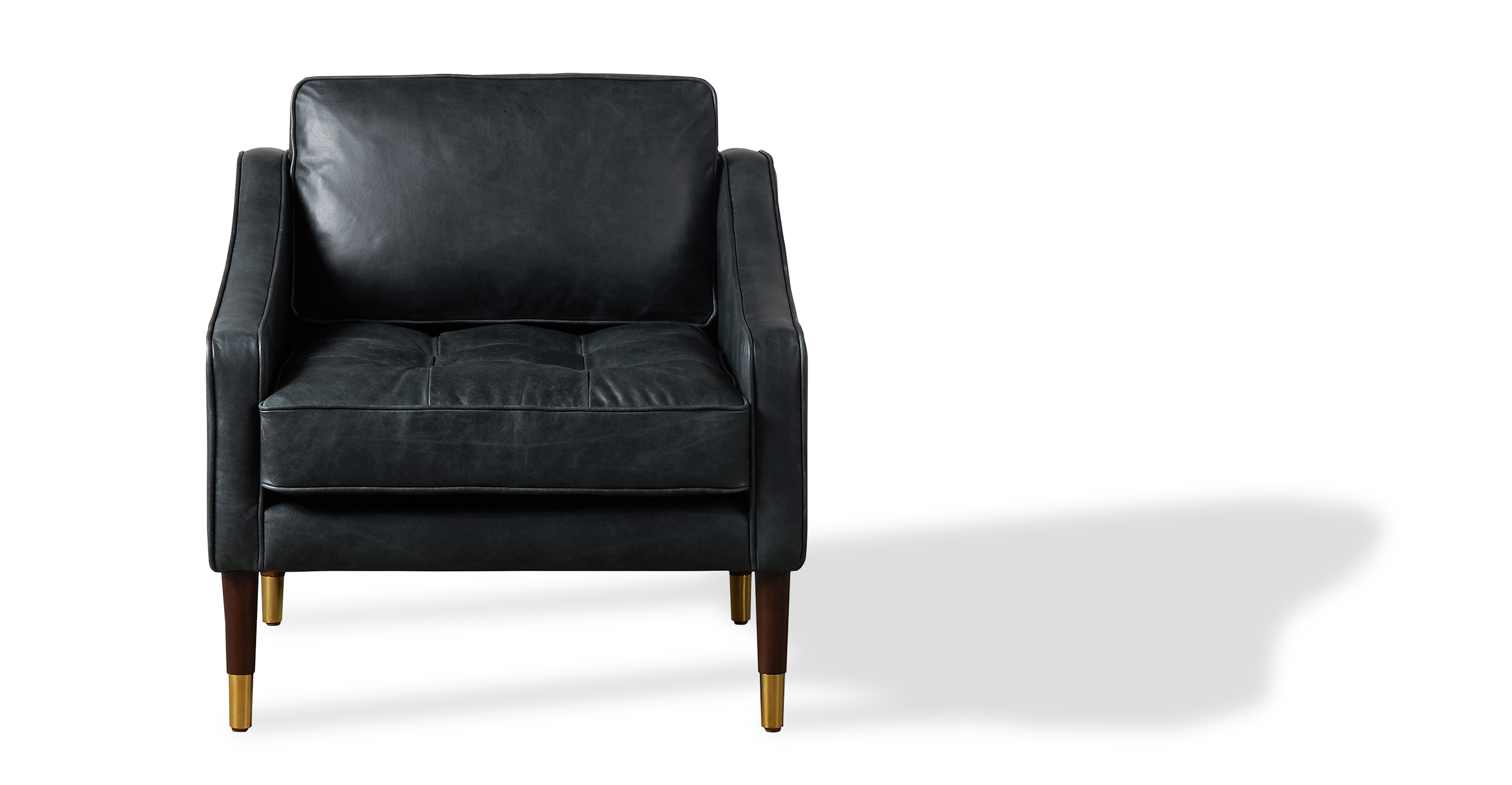 "Brando 29"" Leather Chair, Napoli Black"