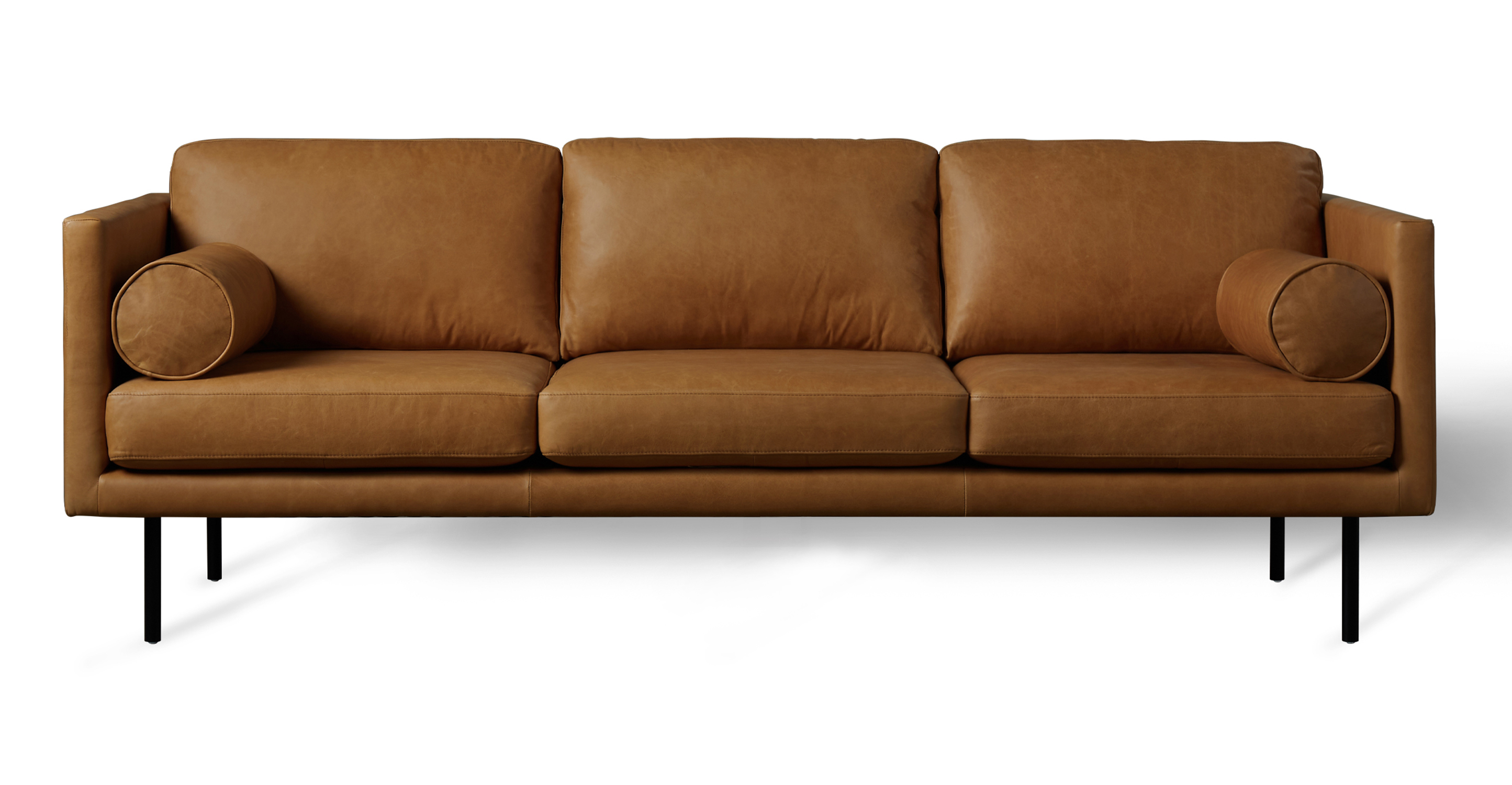 "Spectre Luxe 81"" Leather Sofa, Milano Russet"