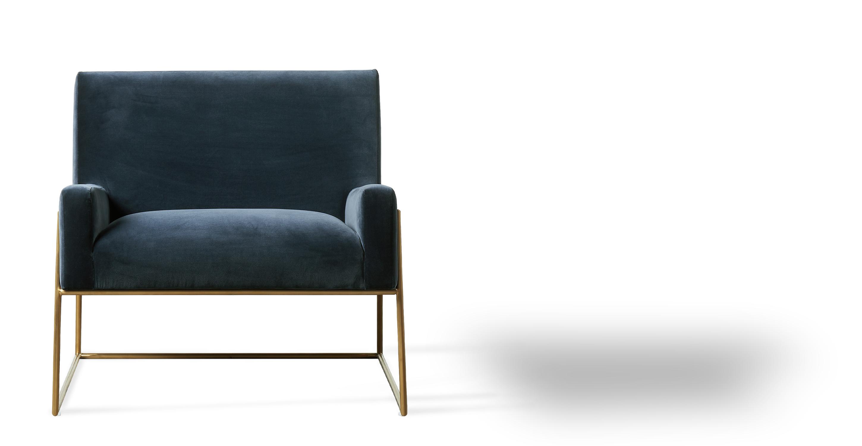"Suspend 30"" Fabric Chair, Admiral Velvet"