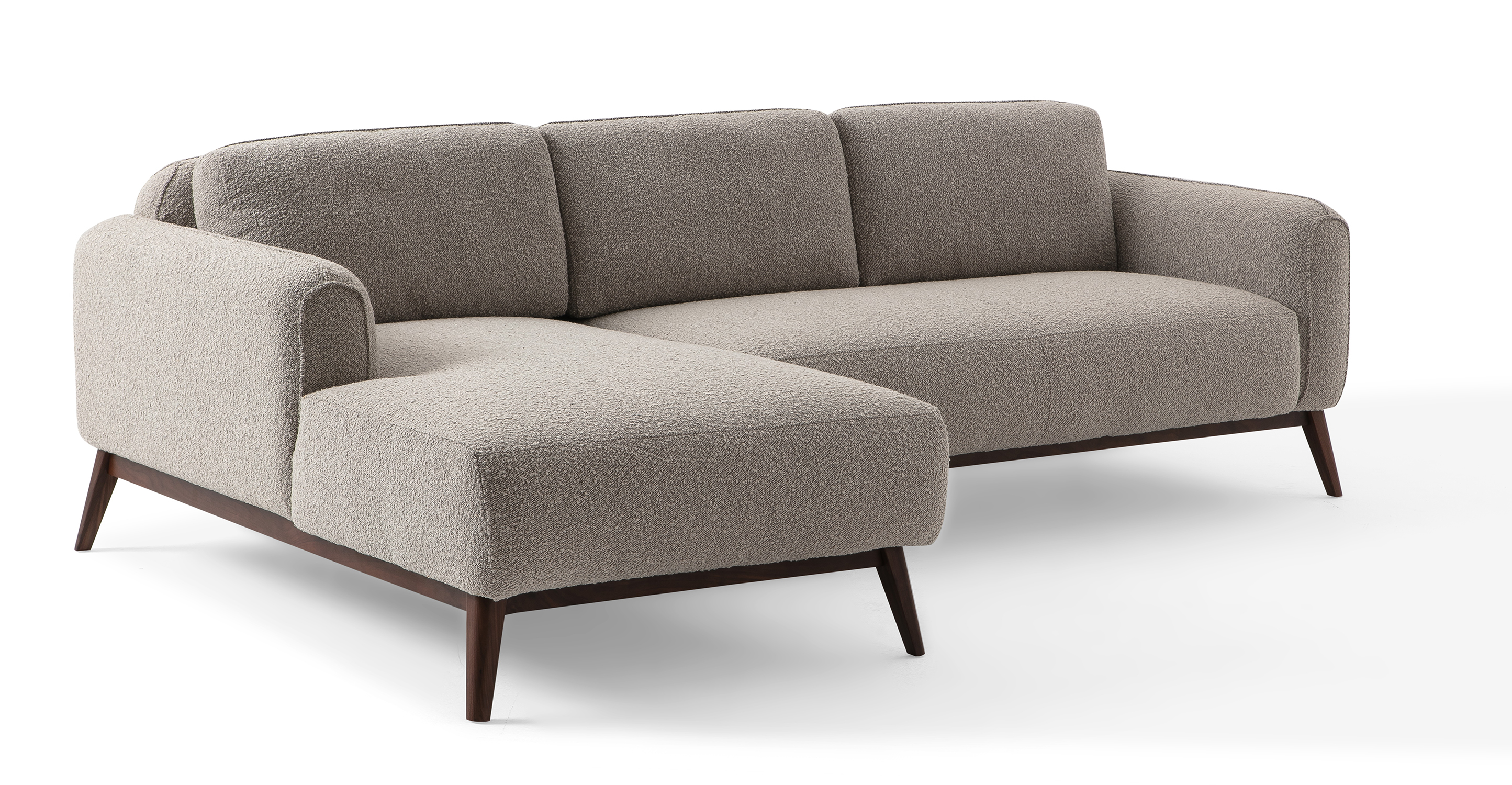 "Metro 100"" Fabric Sofa Sectional Left, Bocce Boucle"