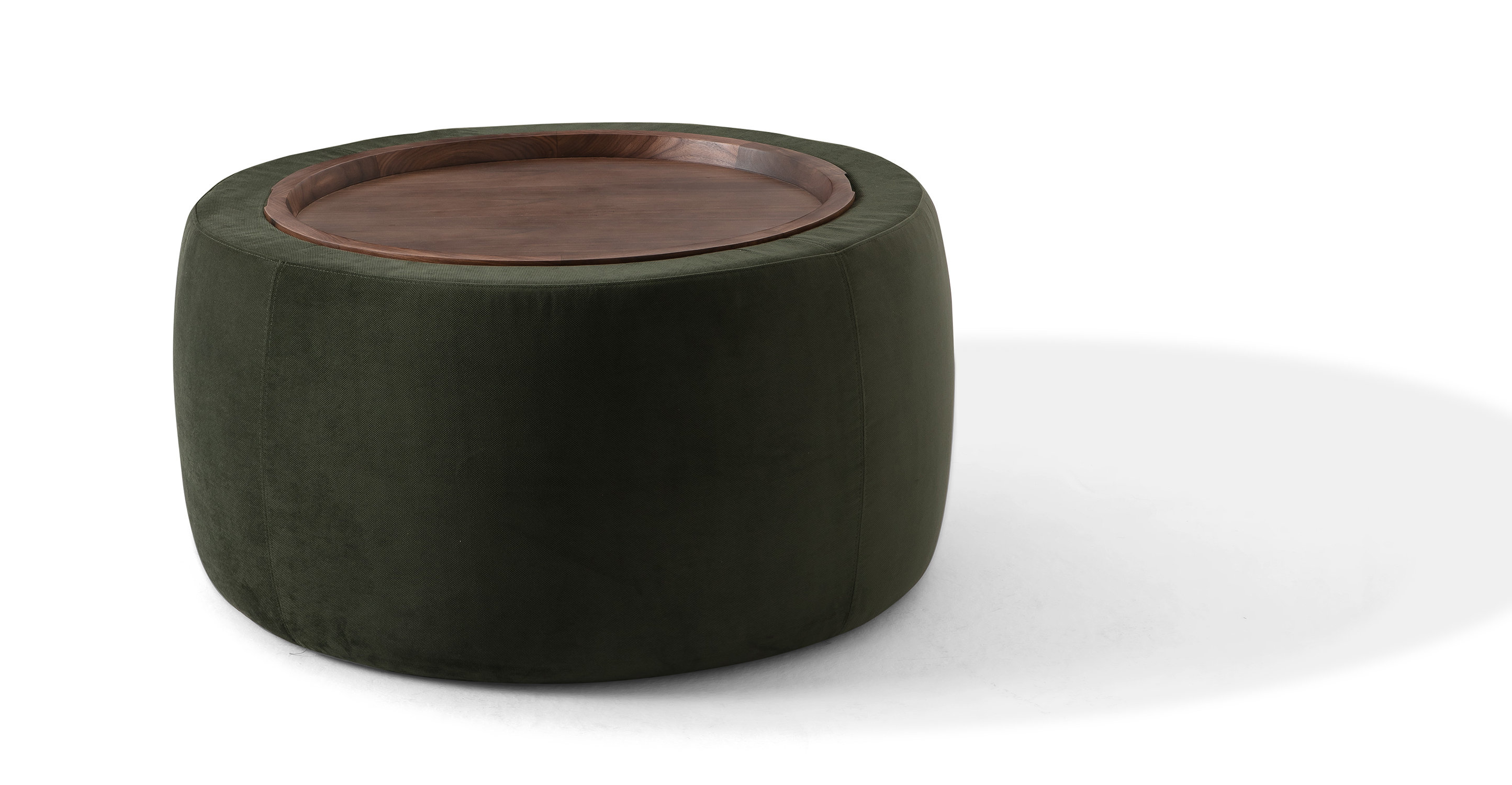 "Grover 36"" Fabric Storage Ottoman, Hunter Green"