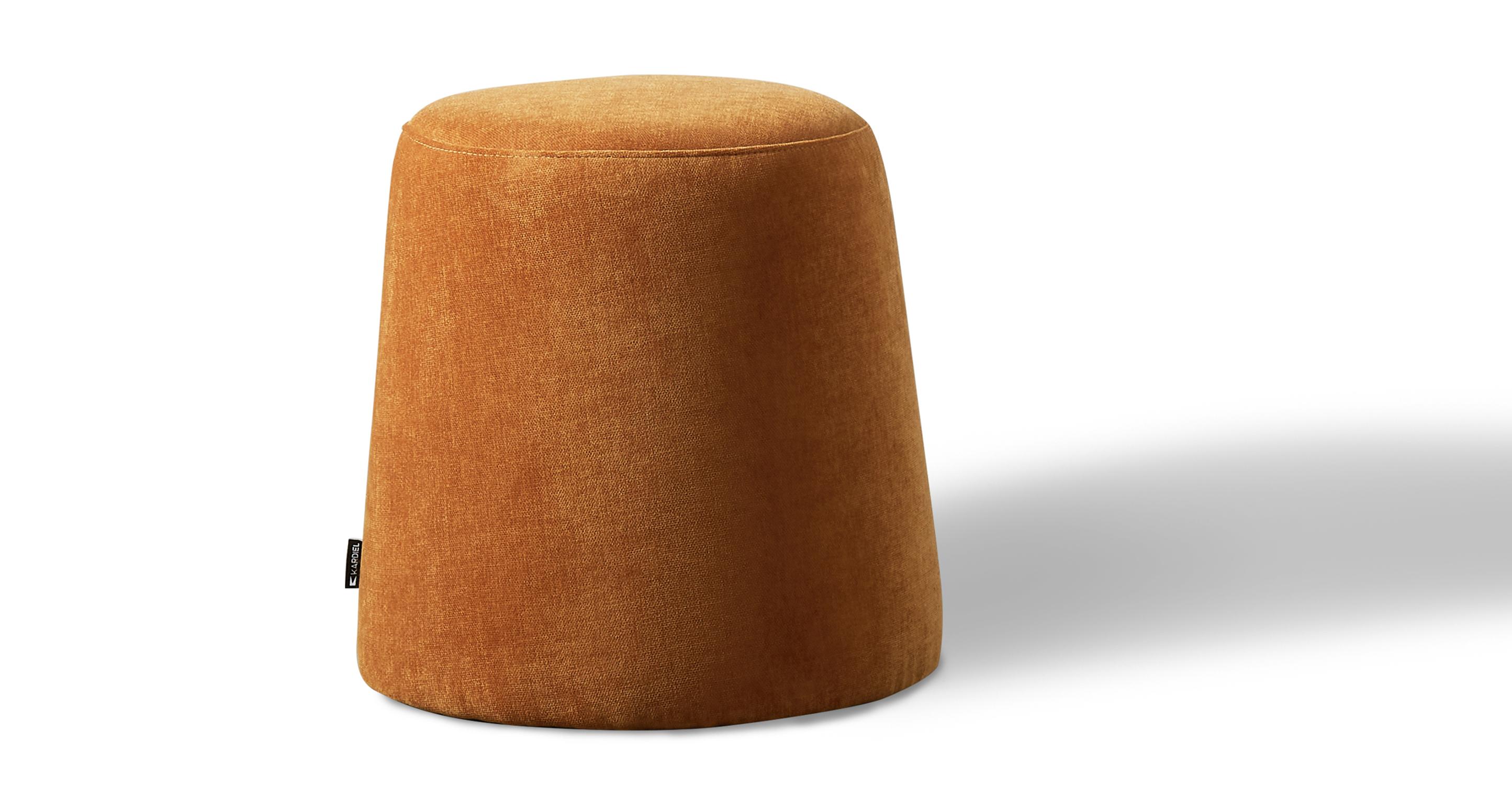 """Thimble 20"""" Fabric Ottoman, Ginger Velvet"""