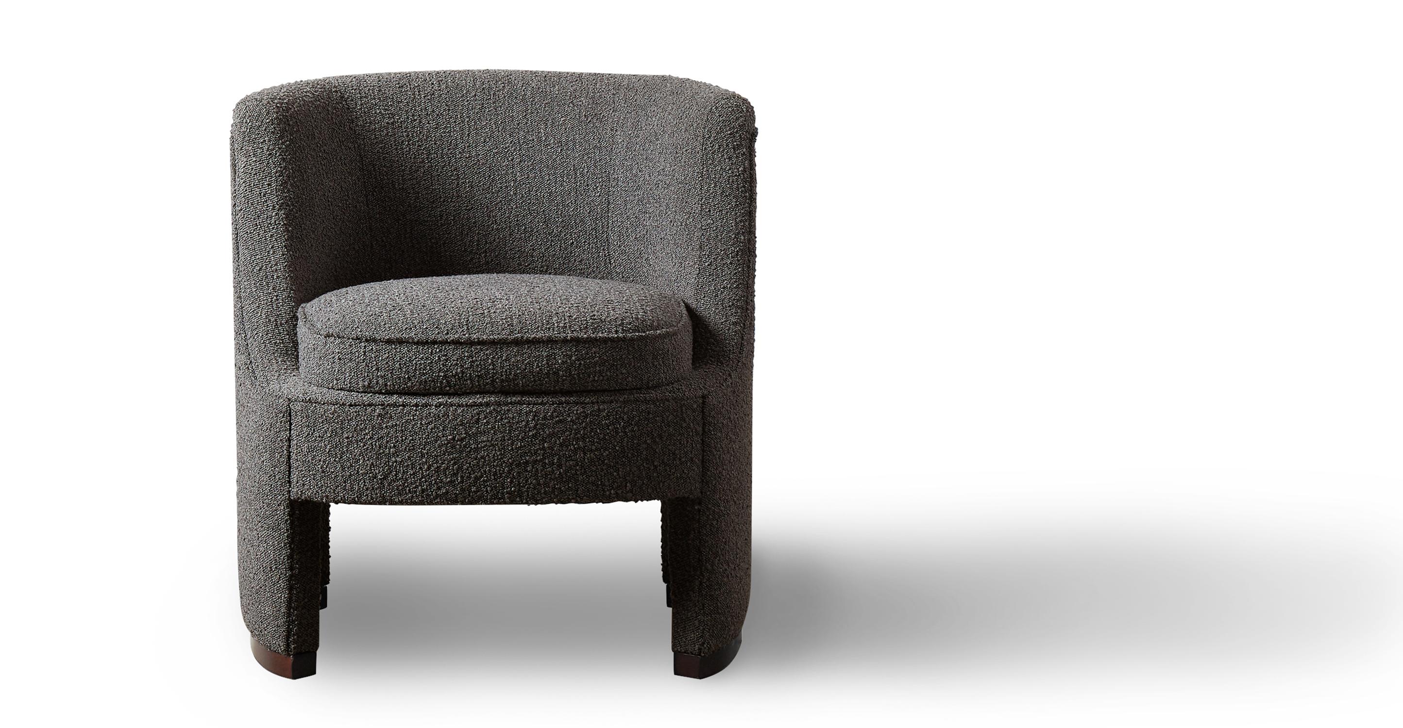 "Roxy 28"" Fabric Chair, Charred Boucle"