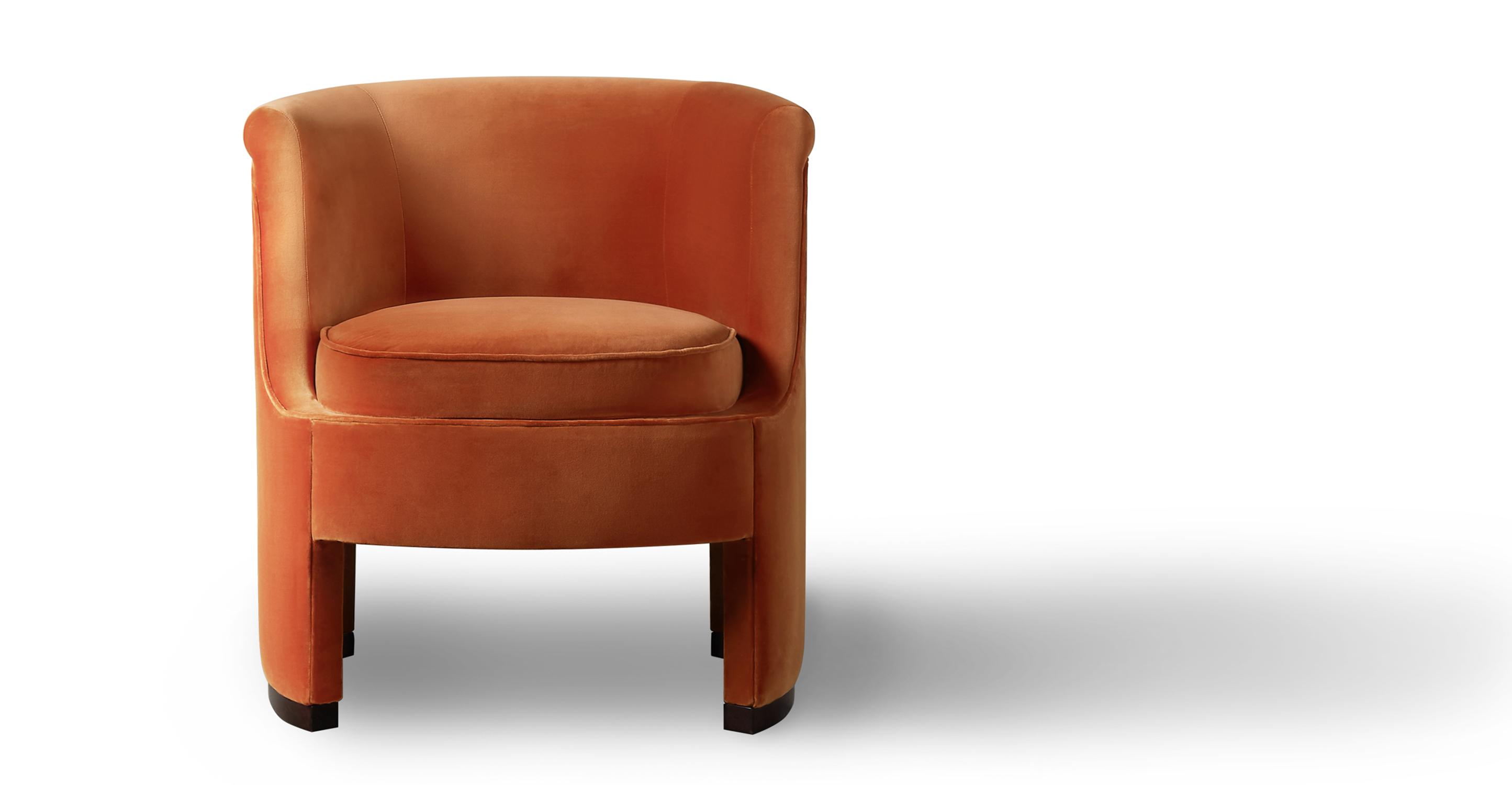 "Roxy 28"" Fabric Chair, Romance Velvet"