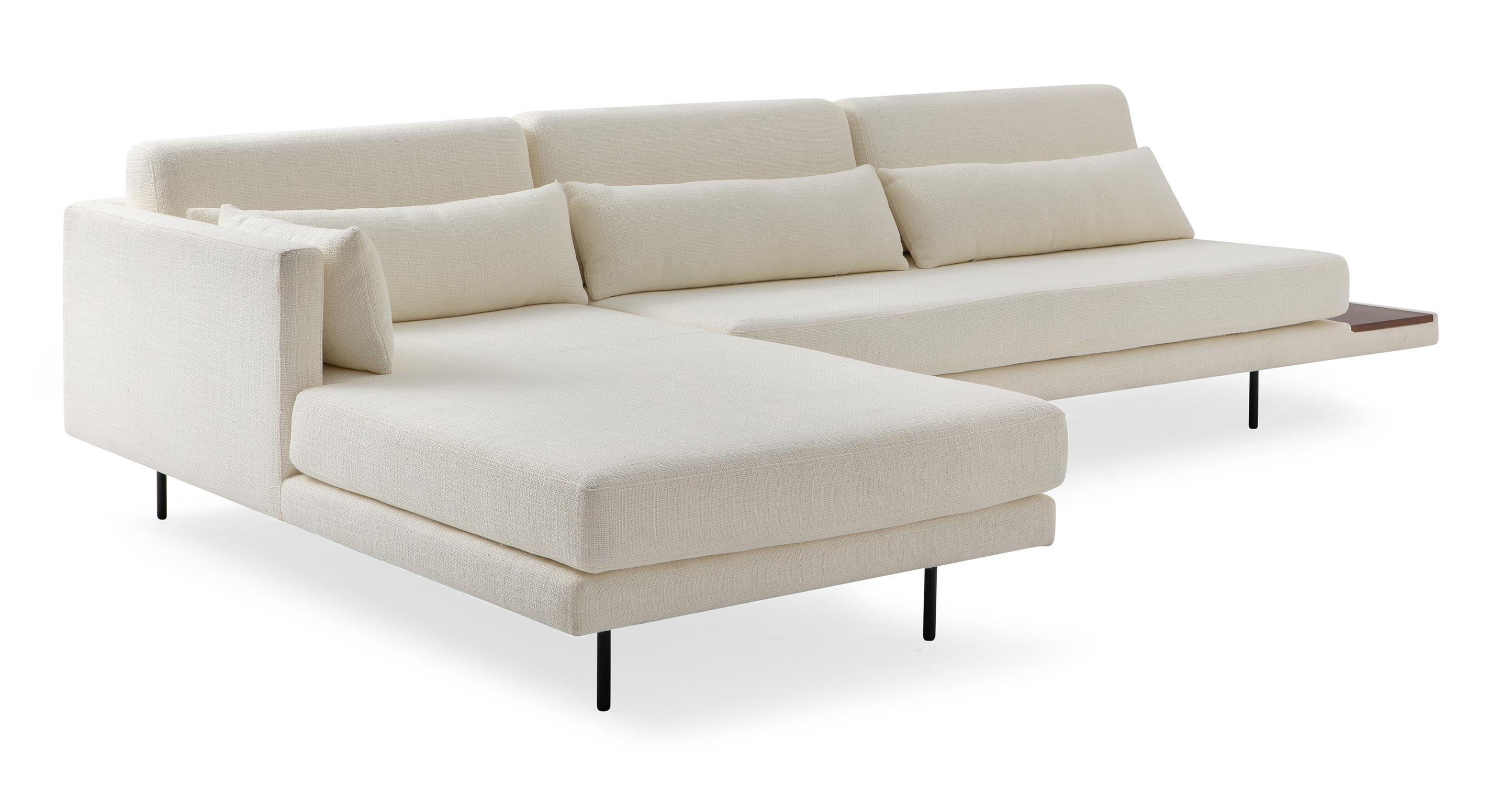"Davenport 116"" Fabric Sofa Sectional Left, Jour Boucle"
